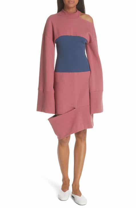 JI OH Corset Panel Sweatshirt Dress