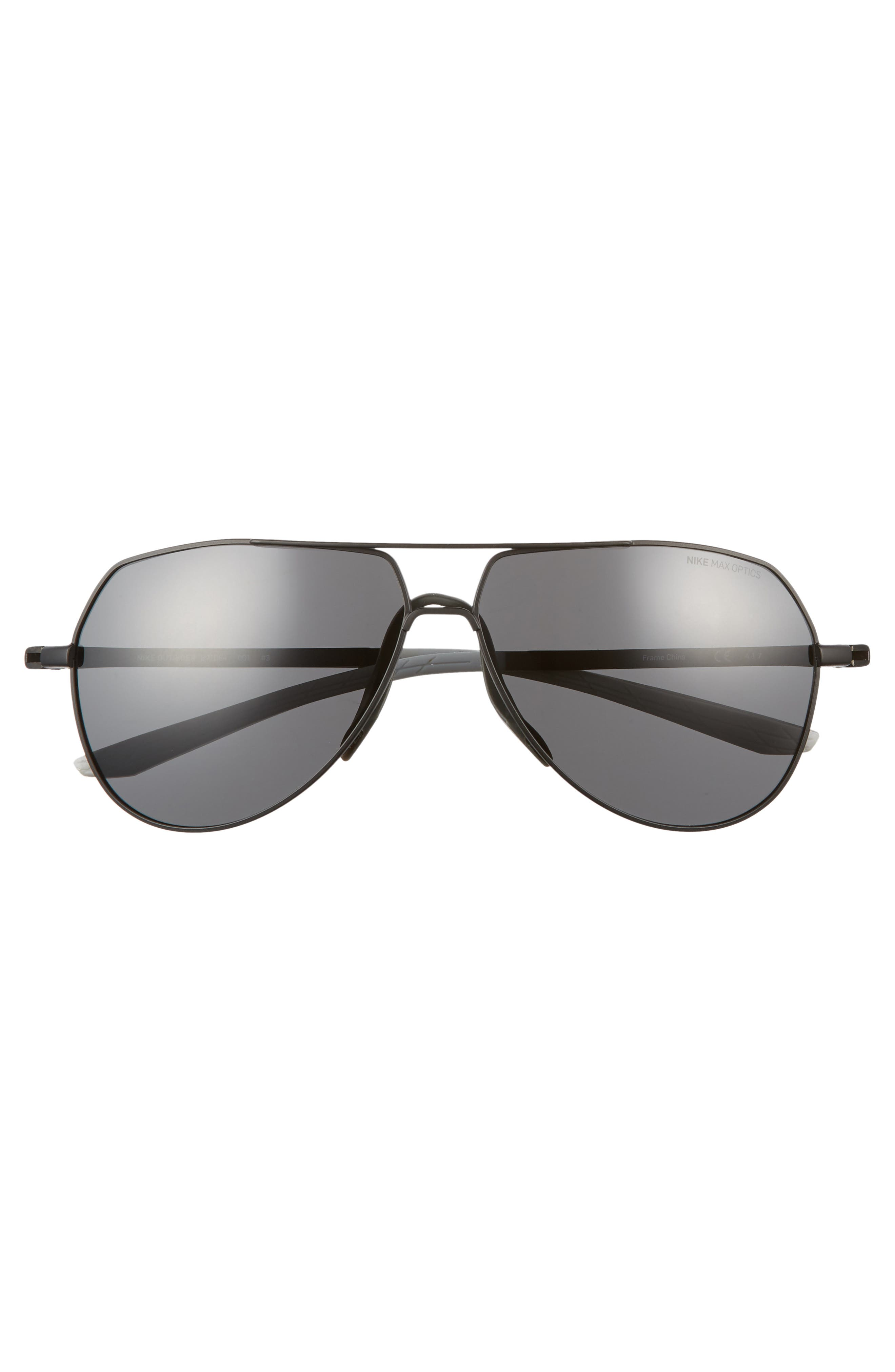 Outrider 62mm Oversize Aviator Sunglasses,                             Alternate thumbnail 2, color,                             Black/ Grey