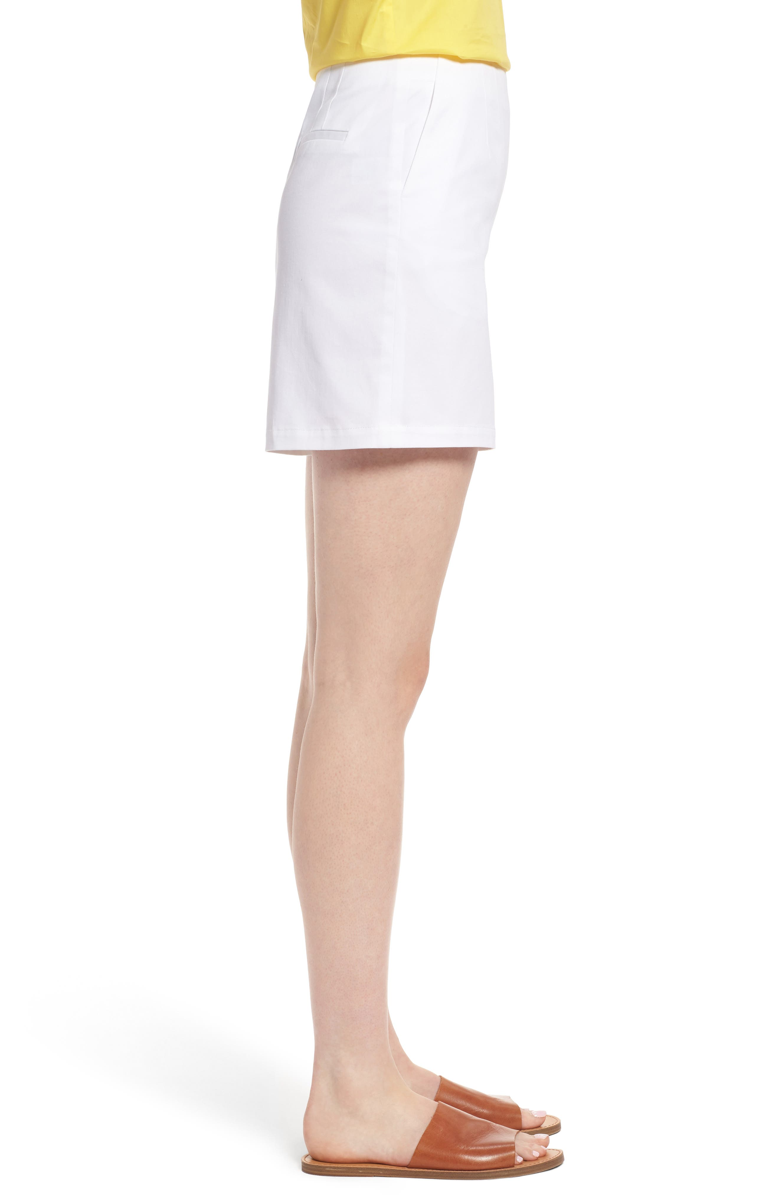 Clean Twill Shorts,                             Alternate thumbnail 5, color,                             White