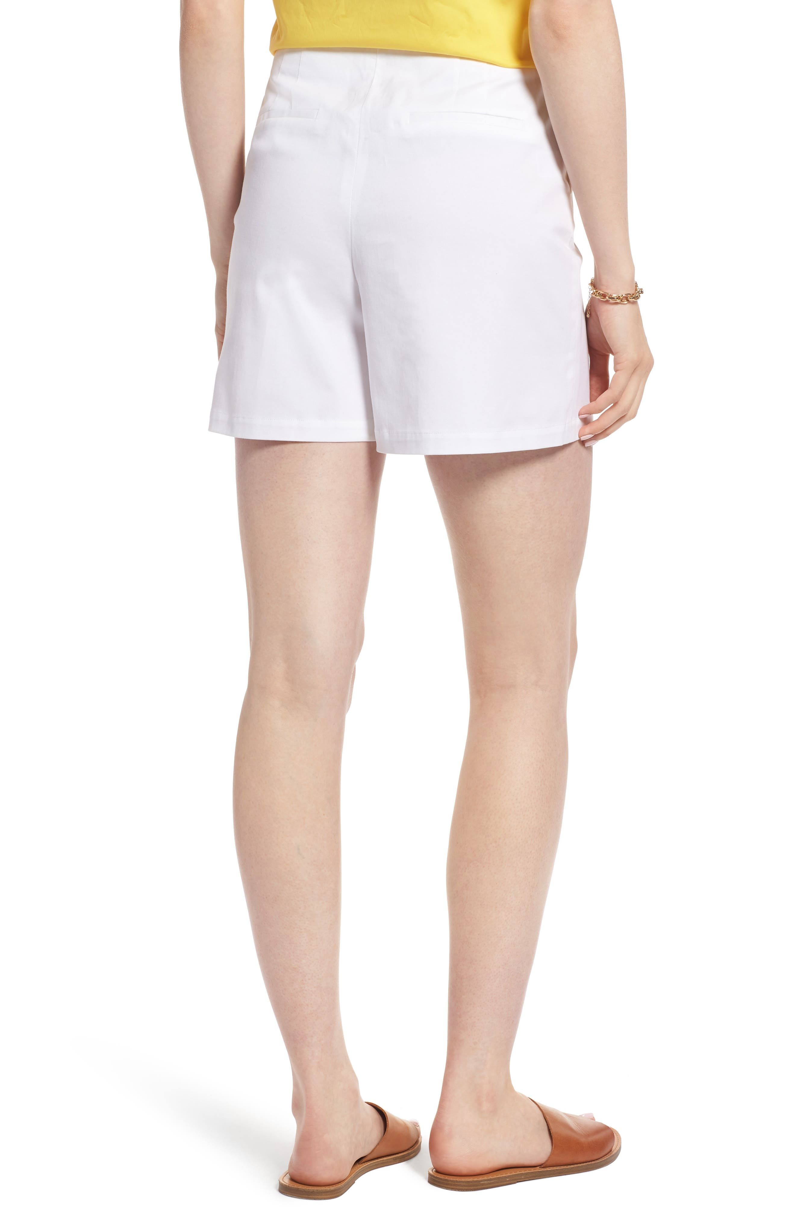 Clean Twill Shorts,                             Alternate thumbnail 2, color,                             White