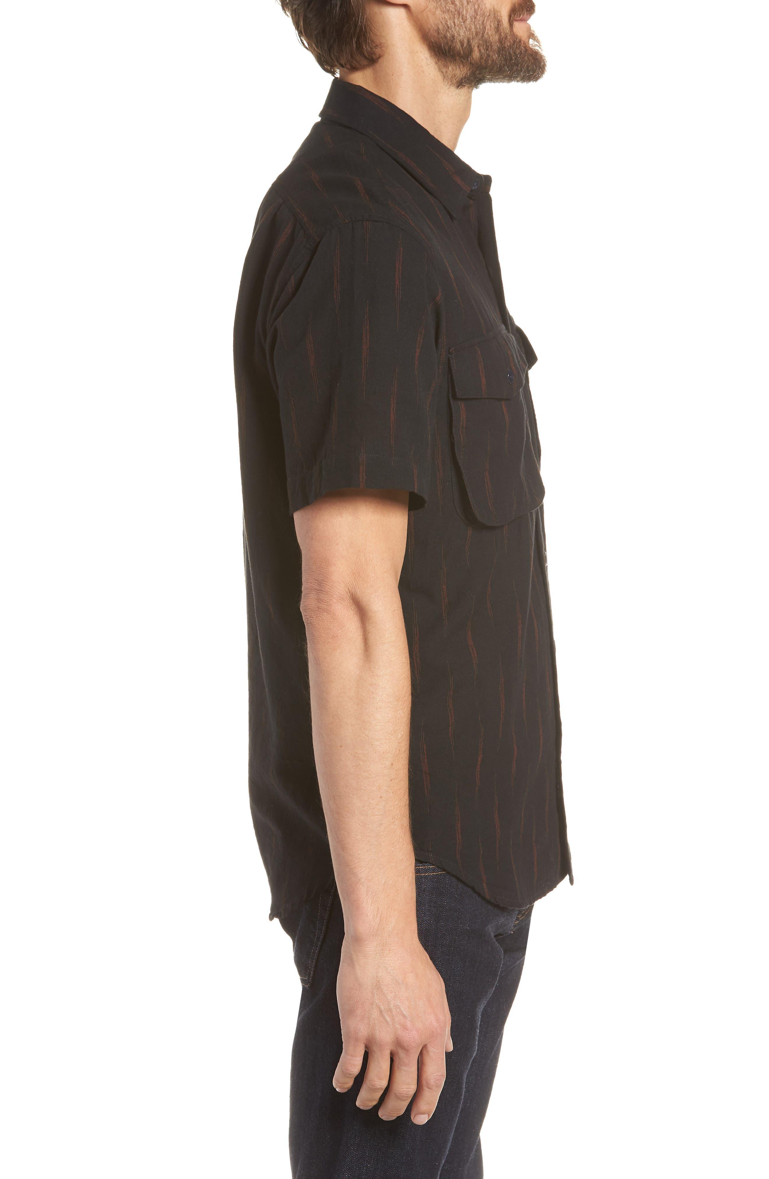 Limited Edition Slim Fit Short Sleeve Sport Shirt,                             Alternate thumbnail 4, color,                             Rio Grande - Gold Rush