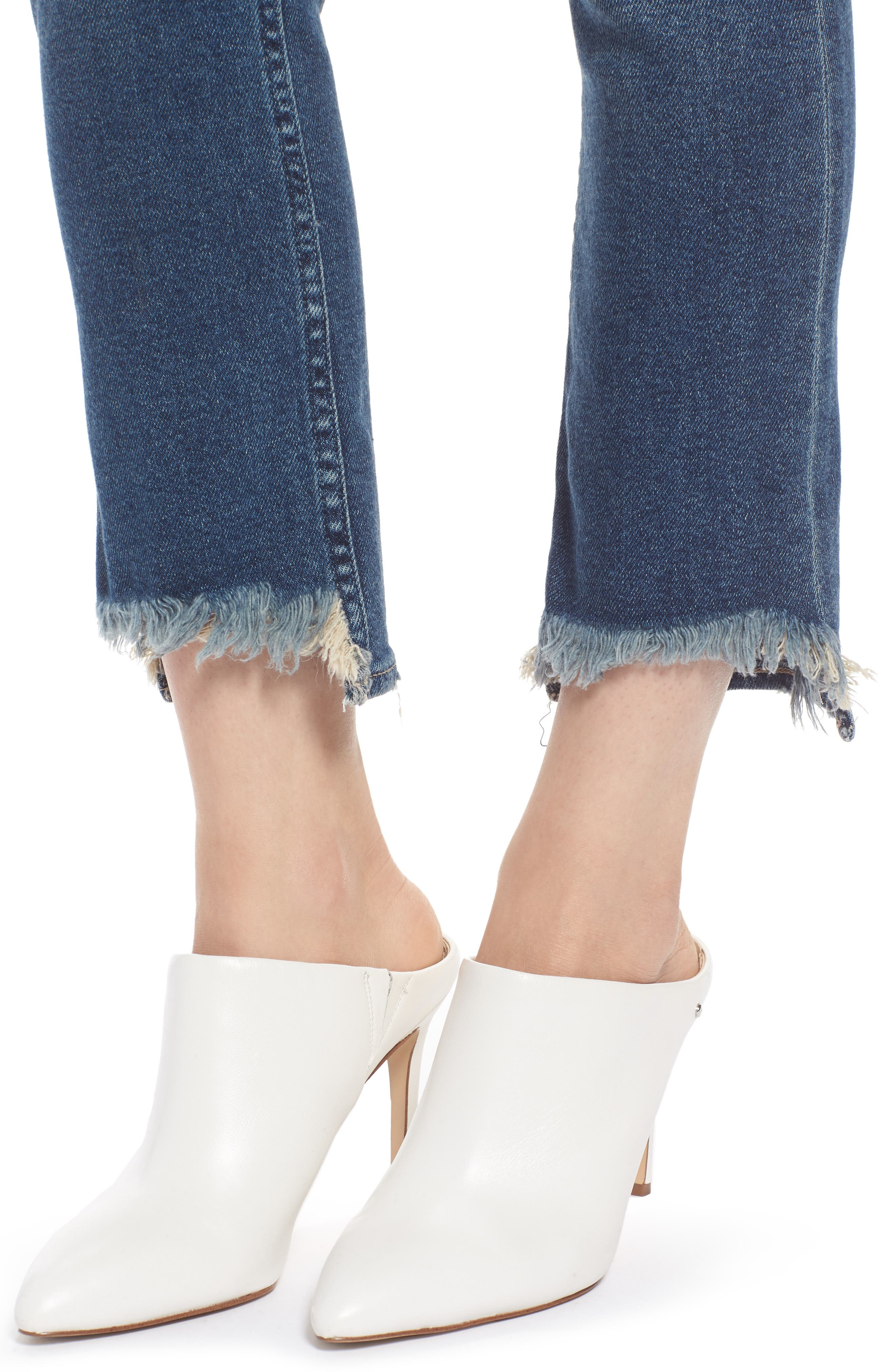 Valetta High Waist Crop Straight Leg Jeans,                             Alternate thumbnail 4, color,                             Way Up North