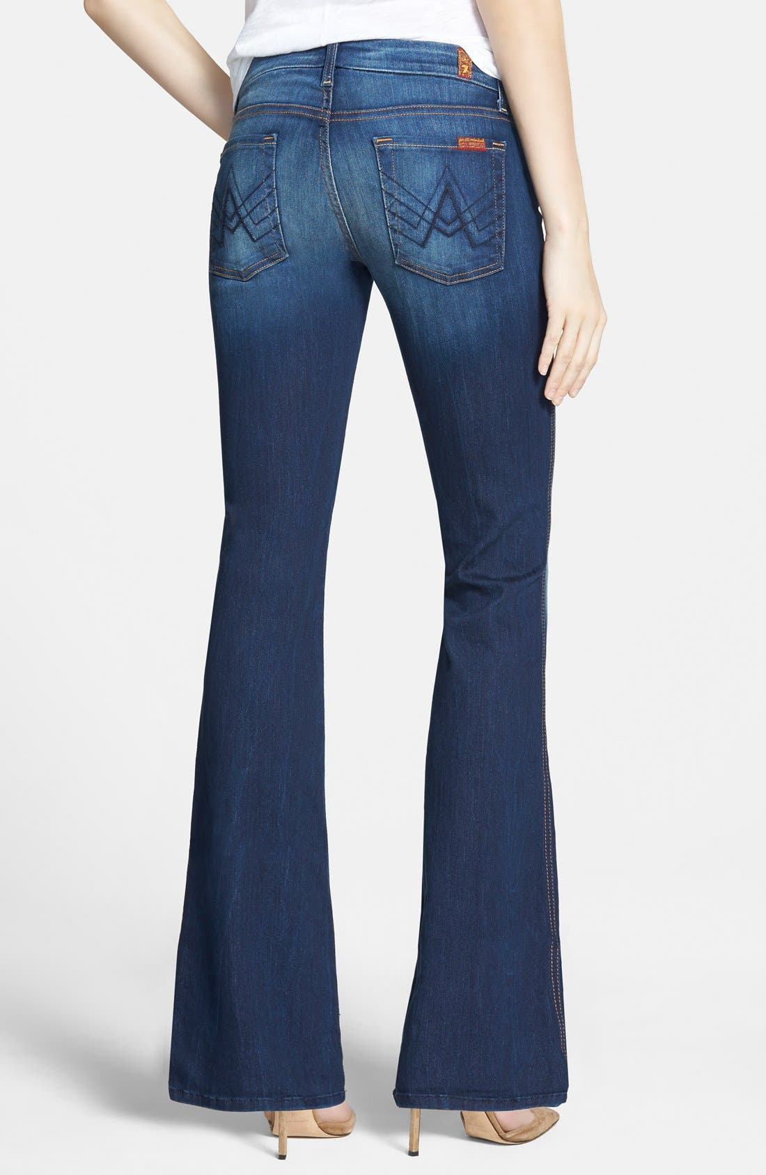 Alternate Image 2  - 7 For All Mankind® 'Lexie' Bootcut Stretch Jeans (Aggressive Siren) (Petite)