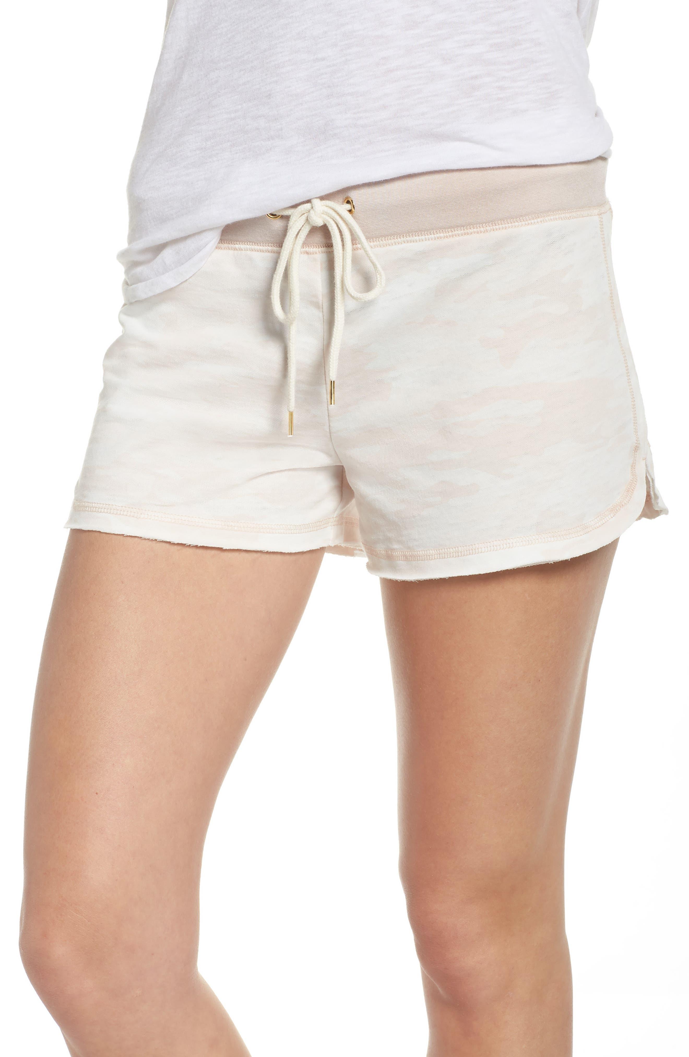 Burnout Lounge Shorts,                         Main,                         color, Pink Camo