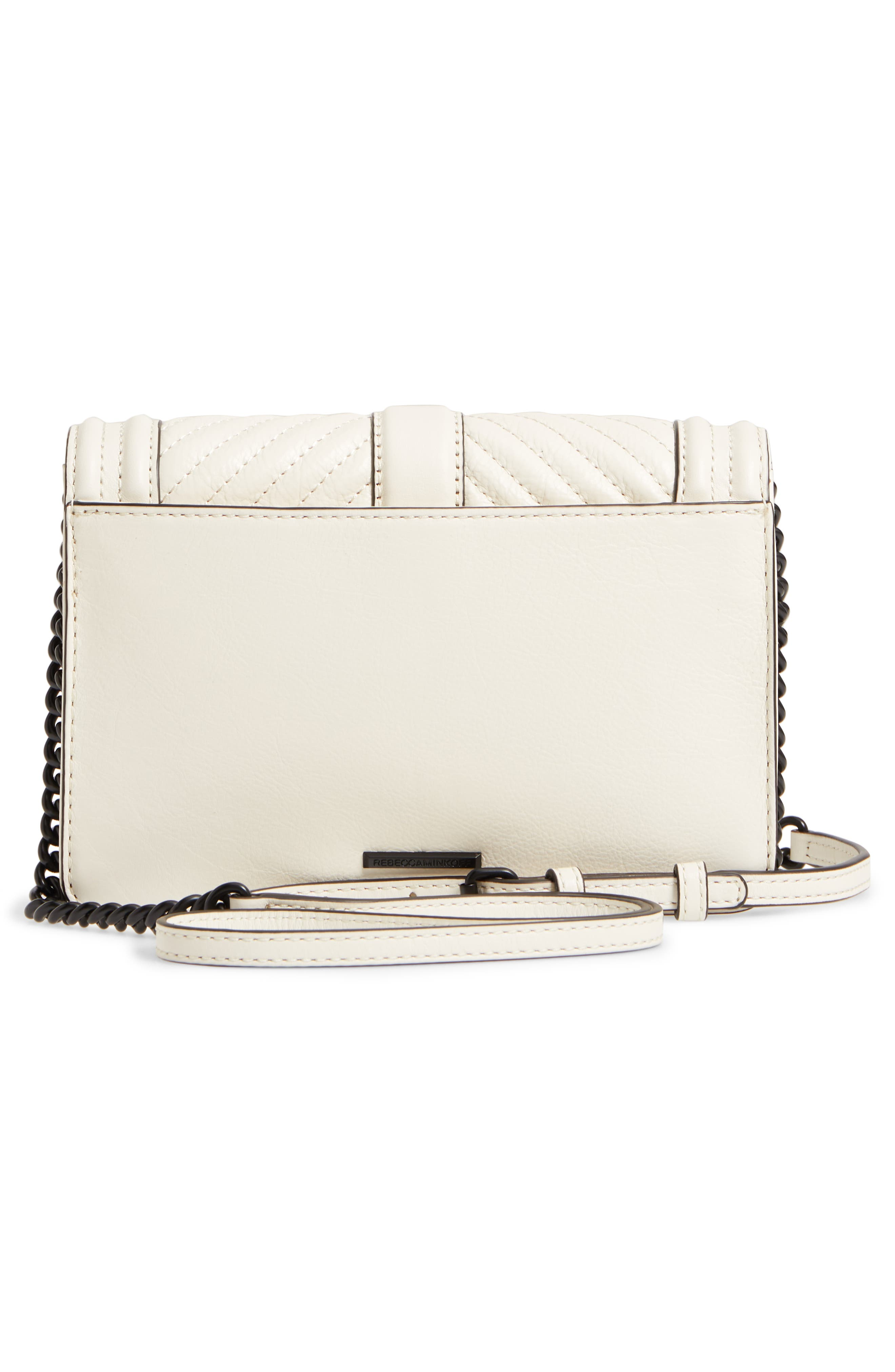 Small Love Leather Crossbody Bag,                             Alternate thumbnail 3, color,                             Antique White