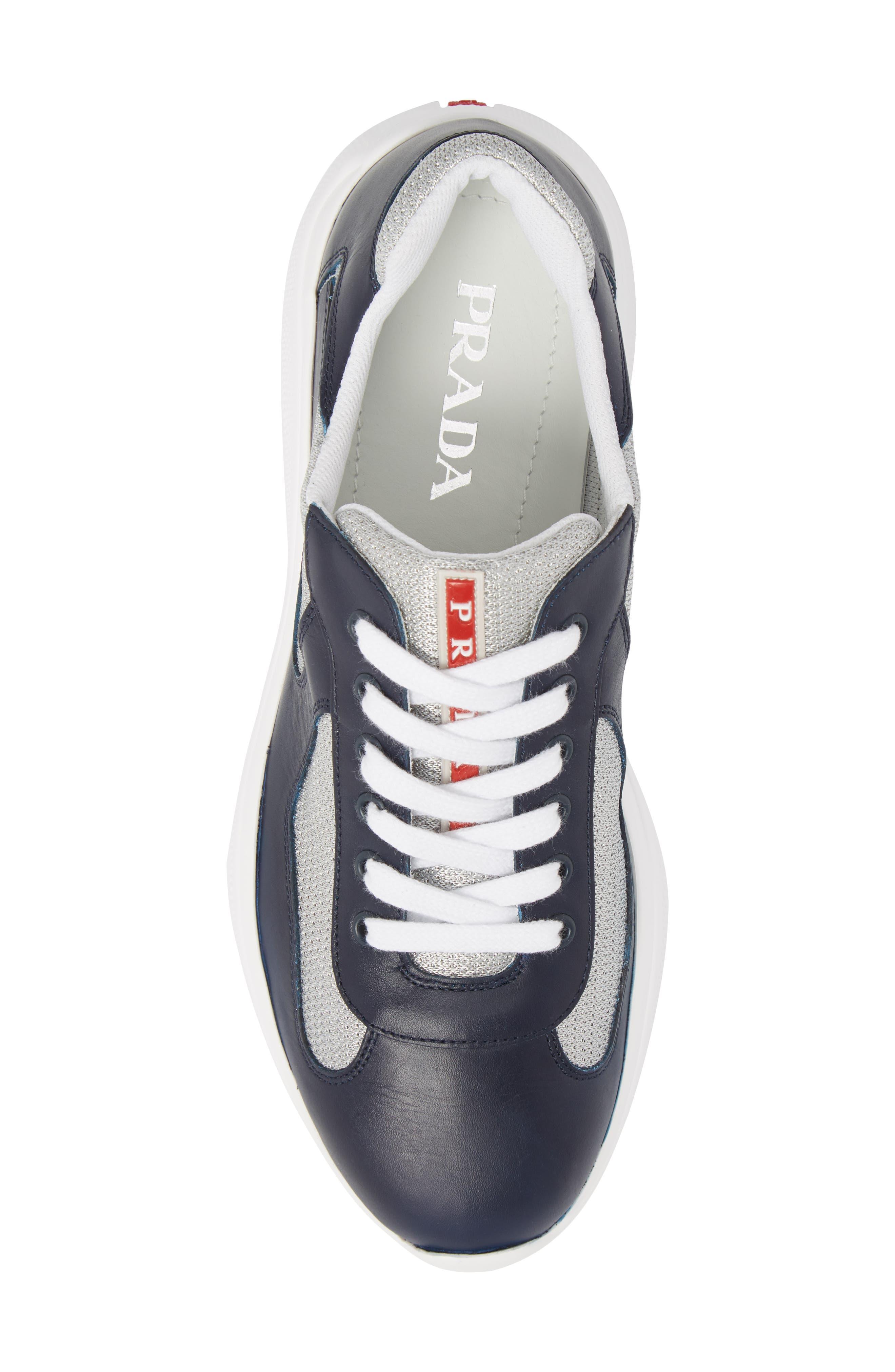 'Punta Ala' Sneaker,                             Alternate thumbnail 5, color,                             Baltic Blue/ Argento