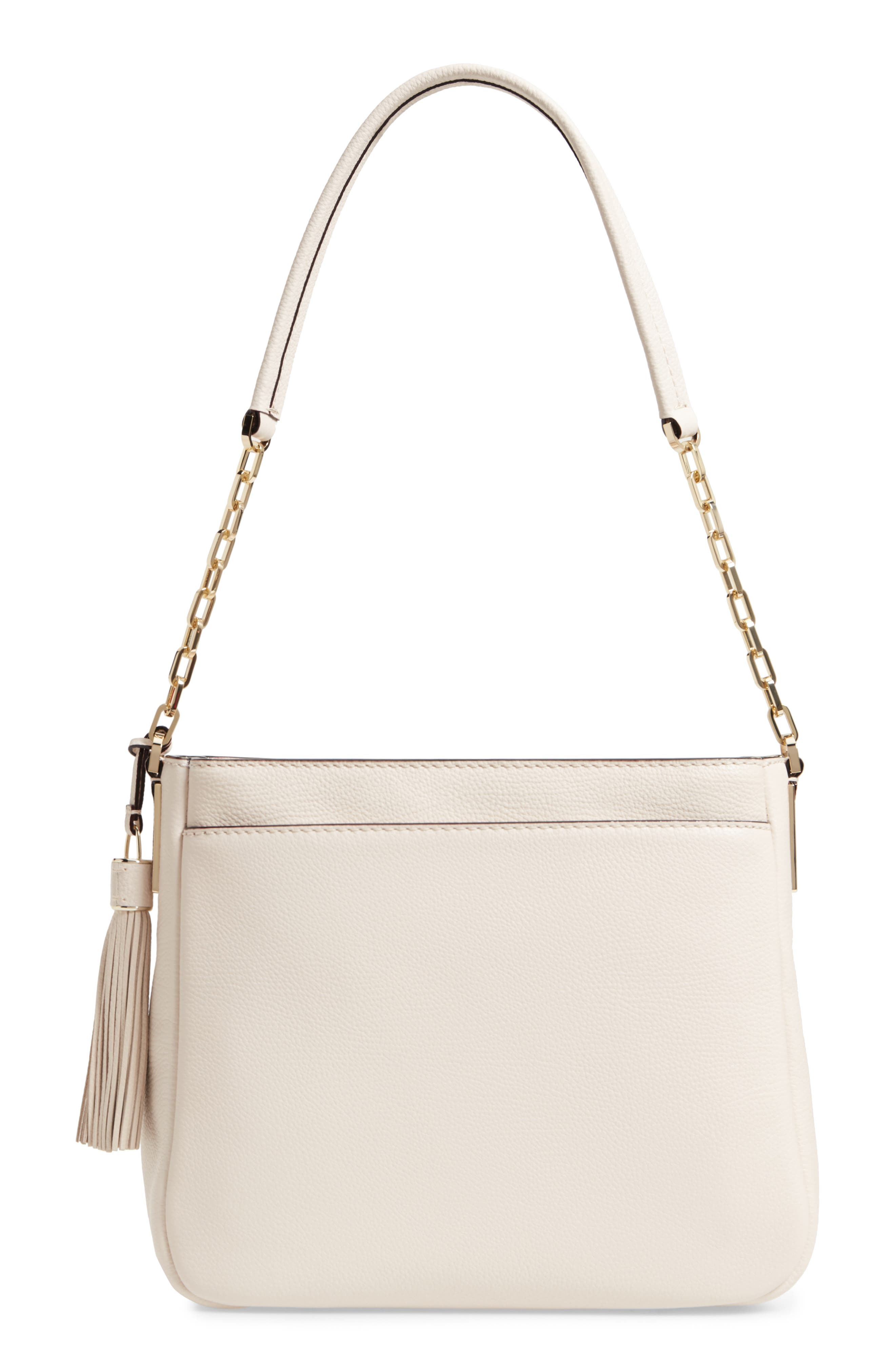 kingston drive - shannon leather shoulder bag,                             Alternate thumbnail 3, color,                             Bleach Bone