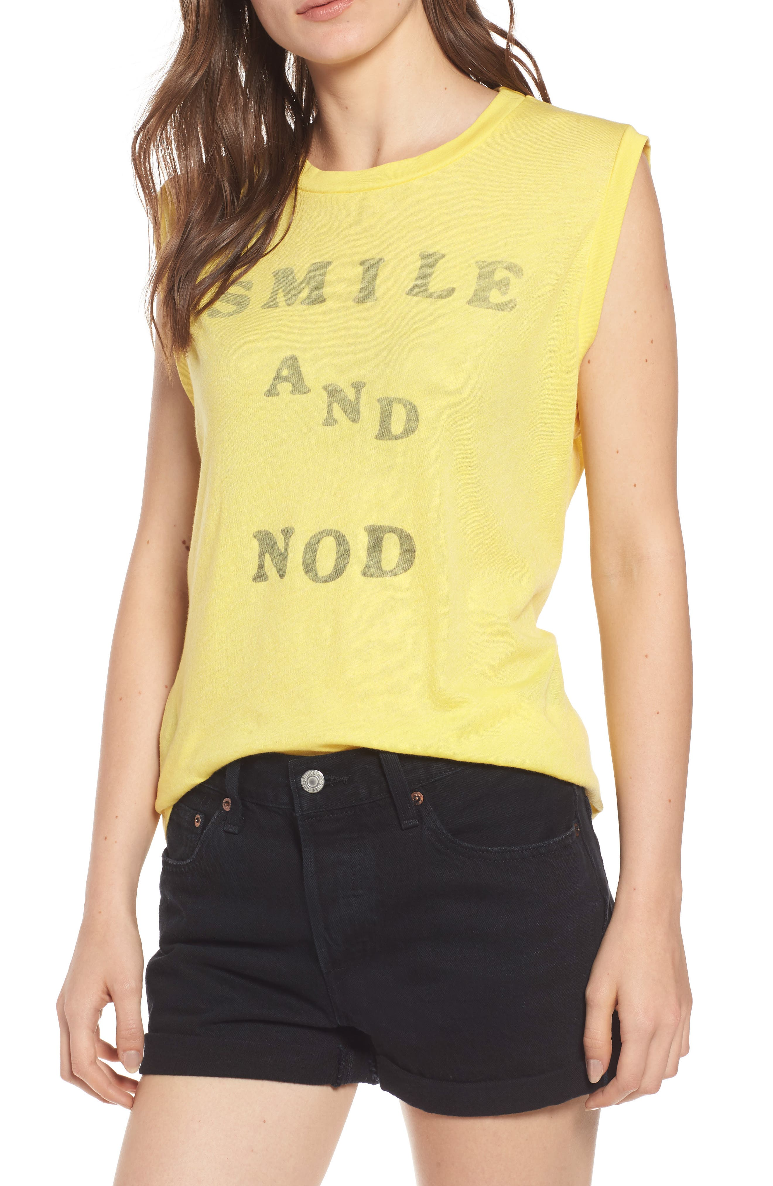 SMILE AND NOD VINTAGE MUSCLE TEE