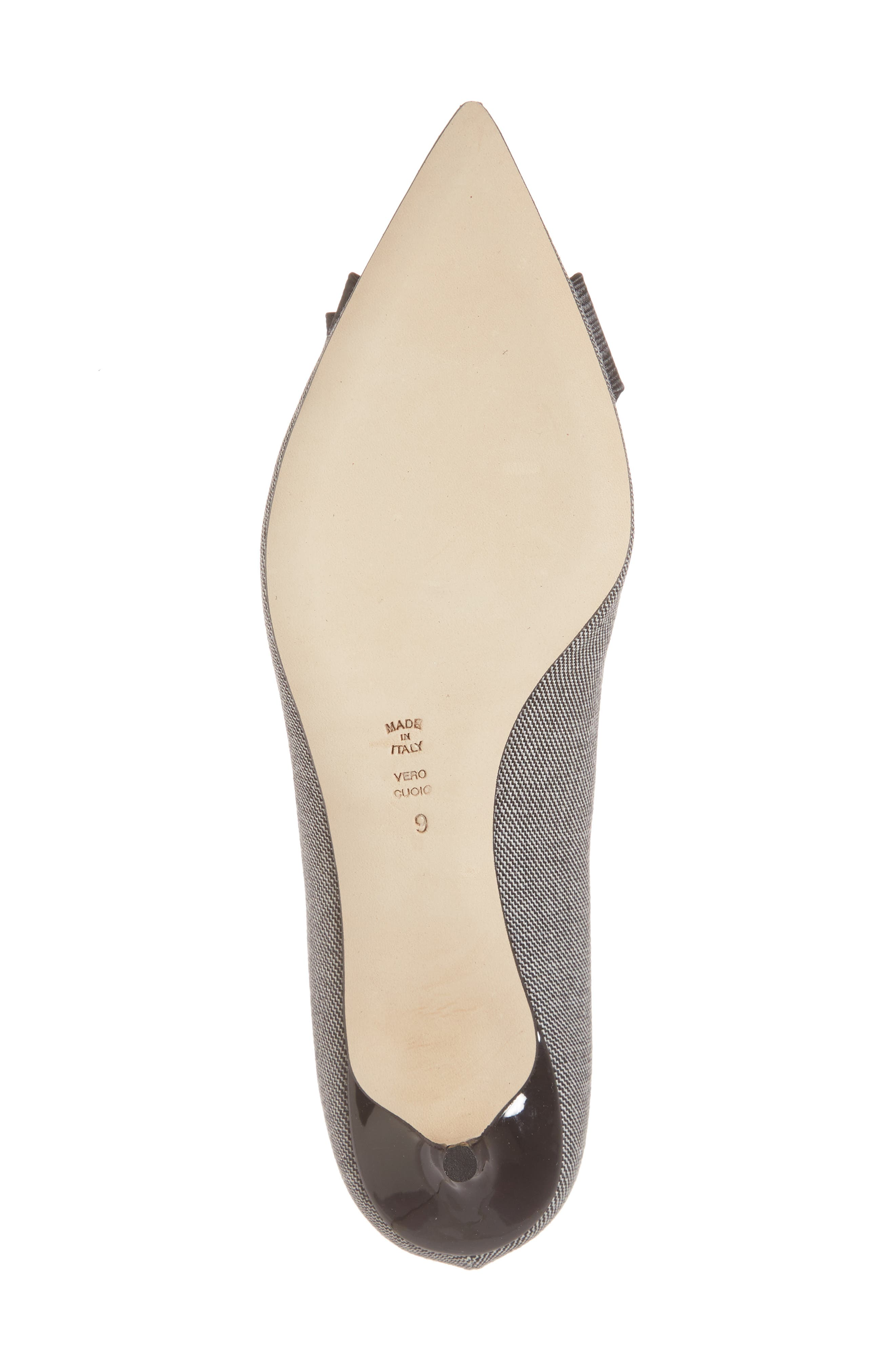 Butter Bentley Bow Pointy Toe Pump,                             Alternate thumbnail 6, color,                             Chatter Print