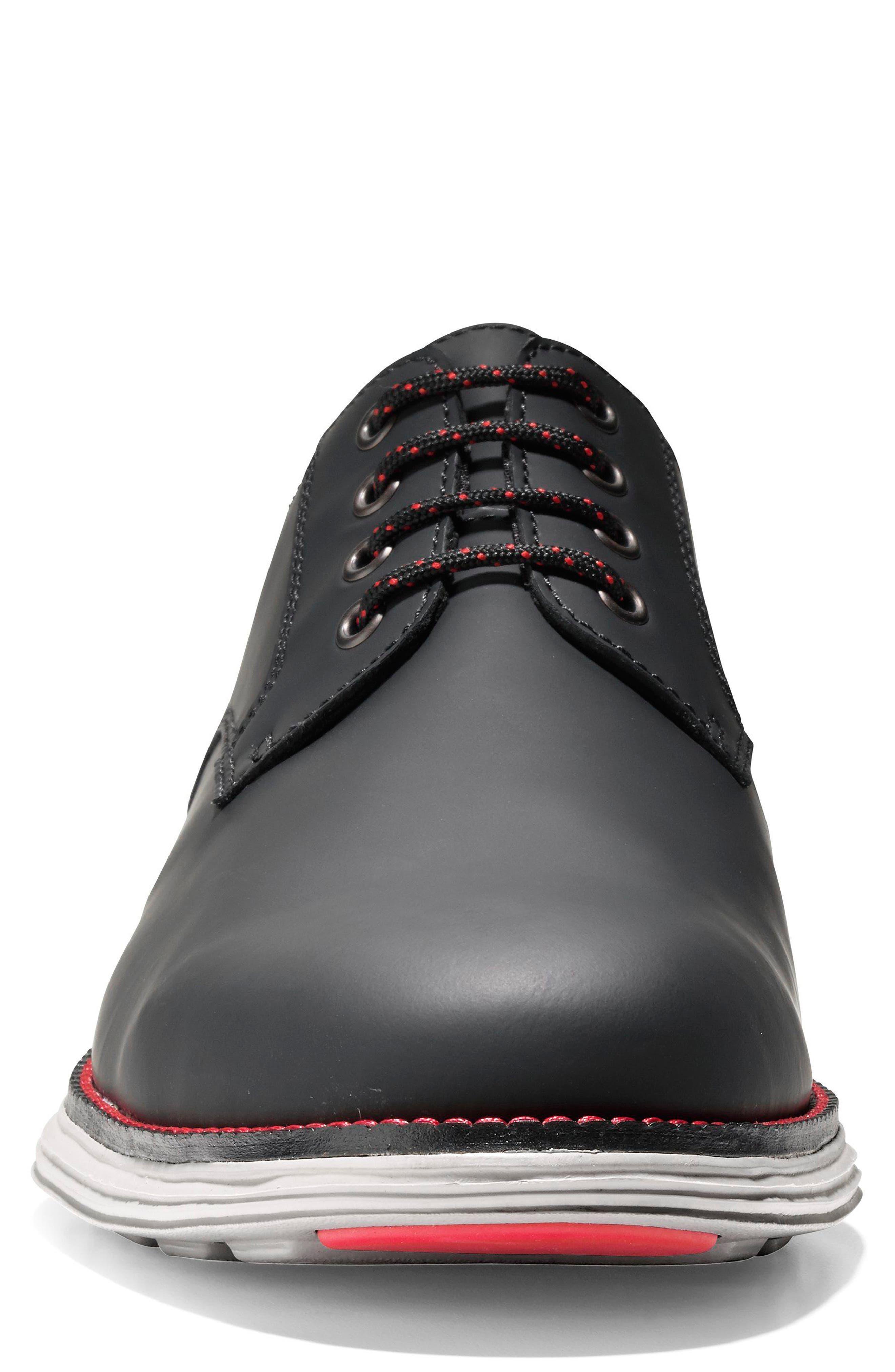 Original Grand Plain Toe Derby,                             Alternate thumbnail 6, color,                             Black Matte Leather