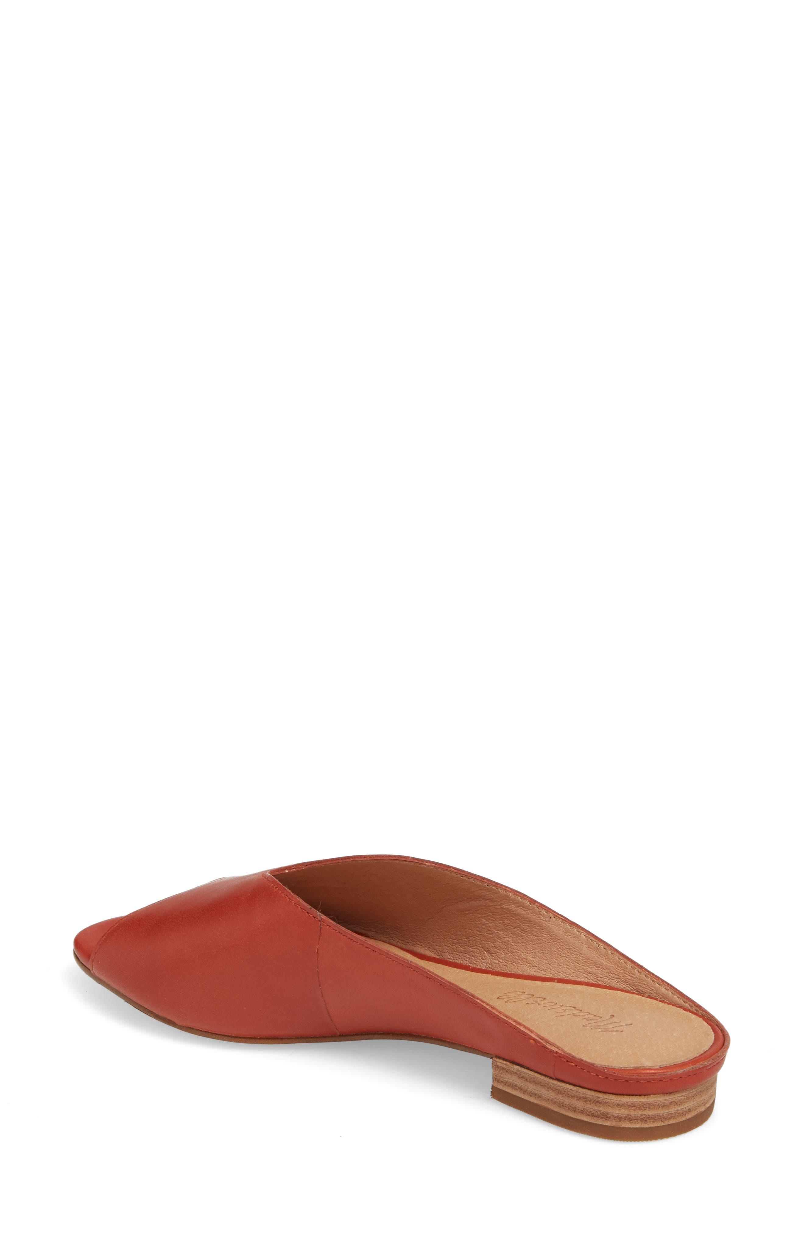 Tavi Slide Sandal,                             Alternate thumbnail 2, color,                             Dark Cinnabar Leather