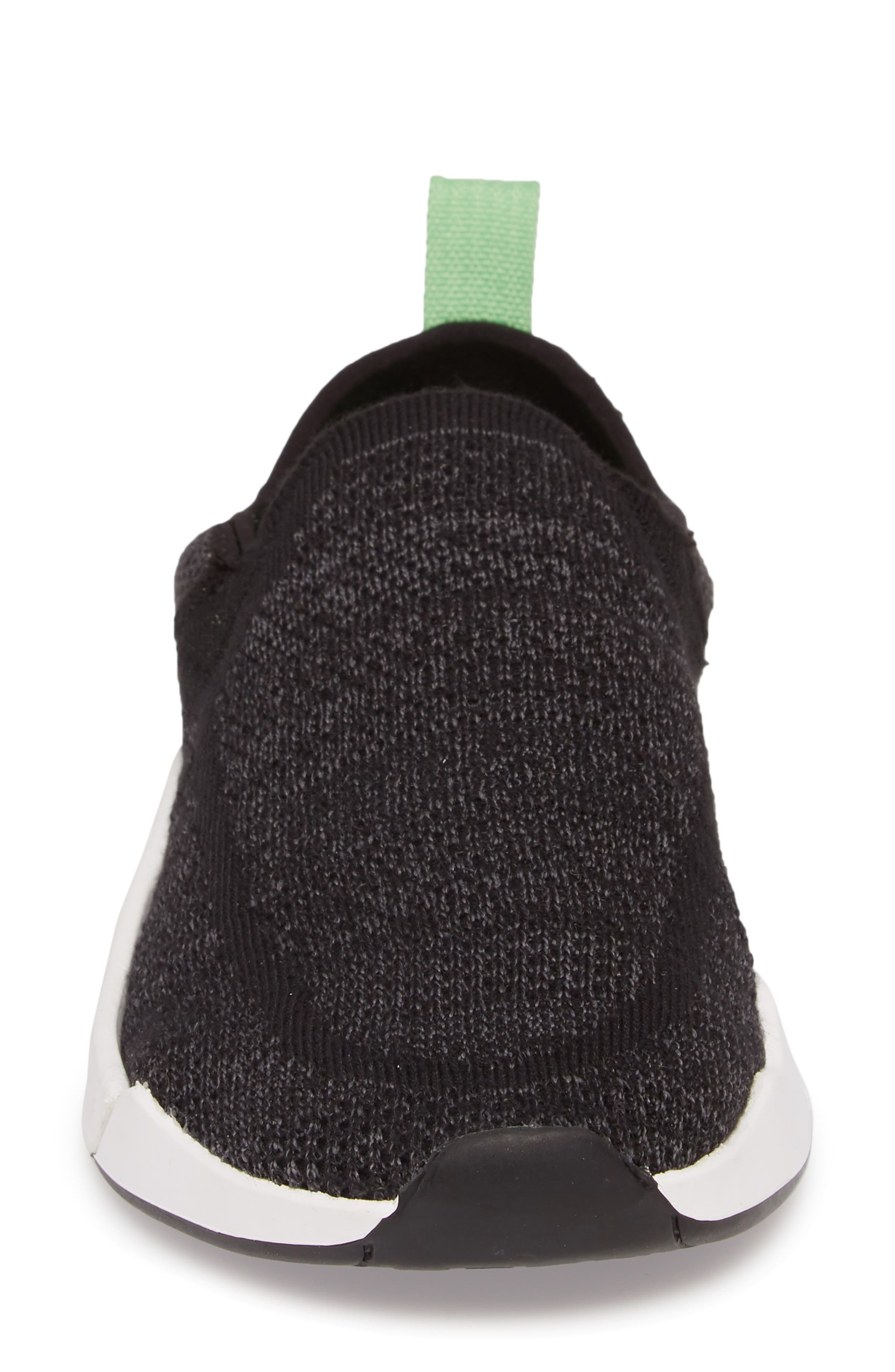 Chiba Quest Knit Slip-On Sneaker,                             Alternate thumbnail 4, color,                             Black