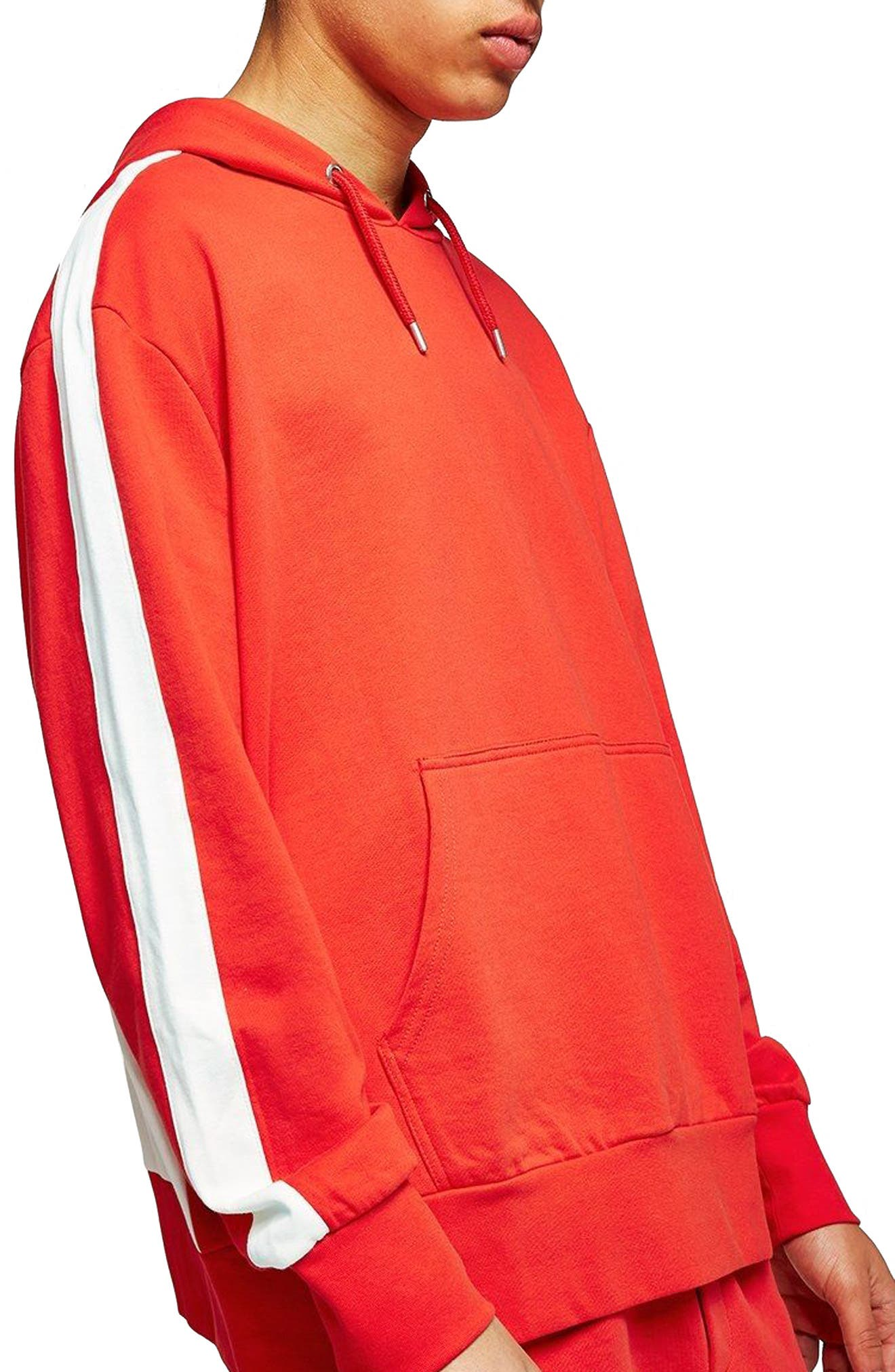 Panel Sleeve Hoodie,                             Main thumbnail 1, color,                             Red Multi