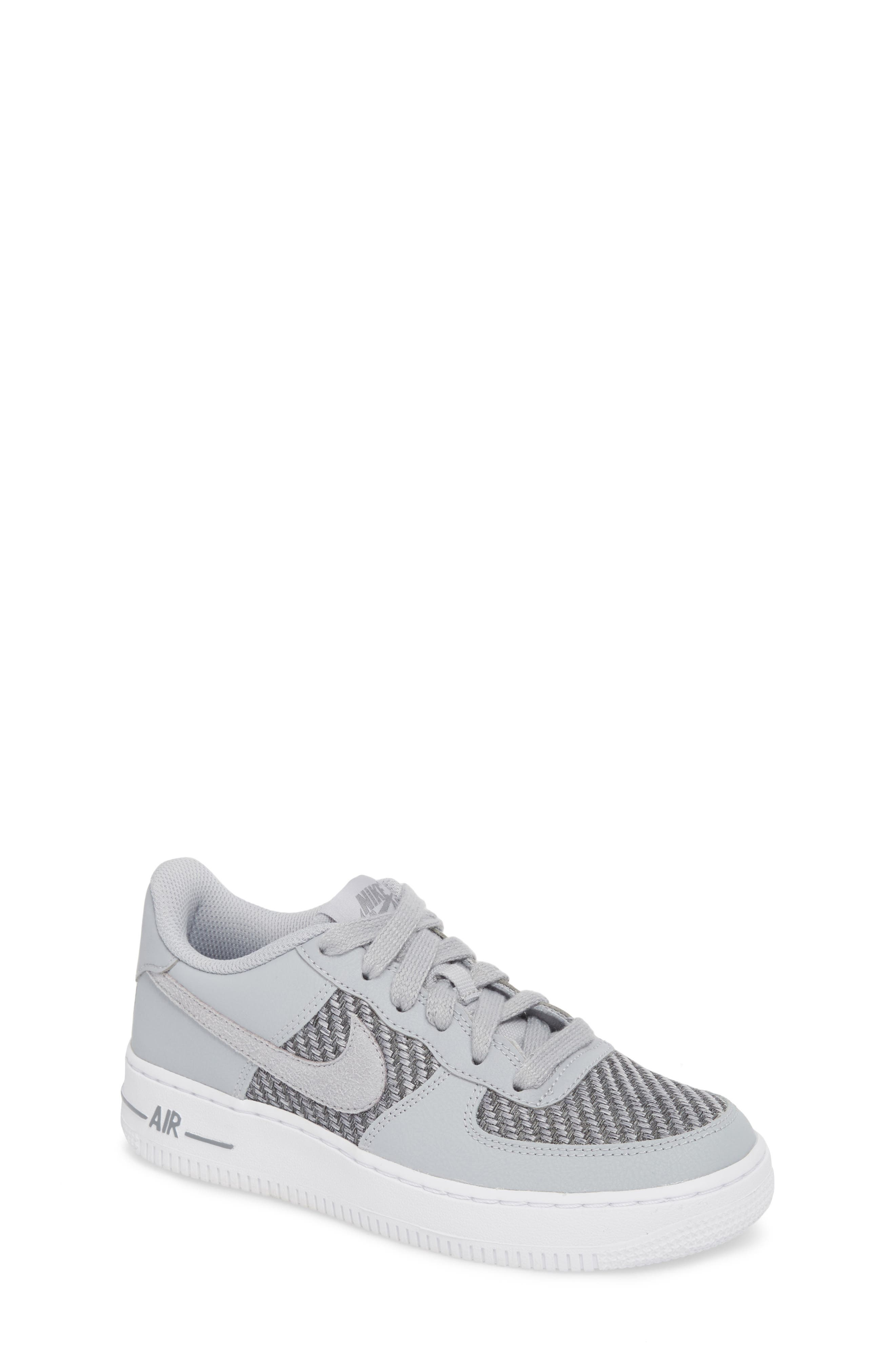 Air Force 1 LV8 Sneaker,                             Main thumbnail 1, color,                             Cool Grey/ White