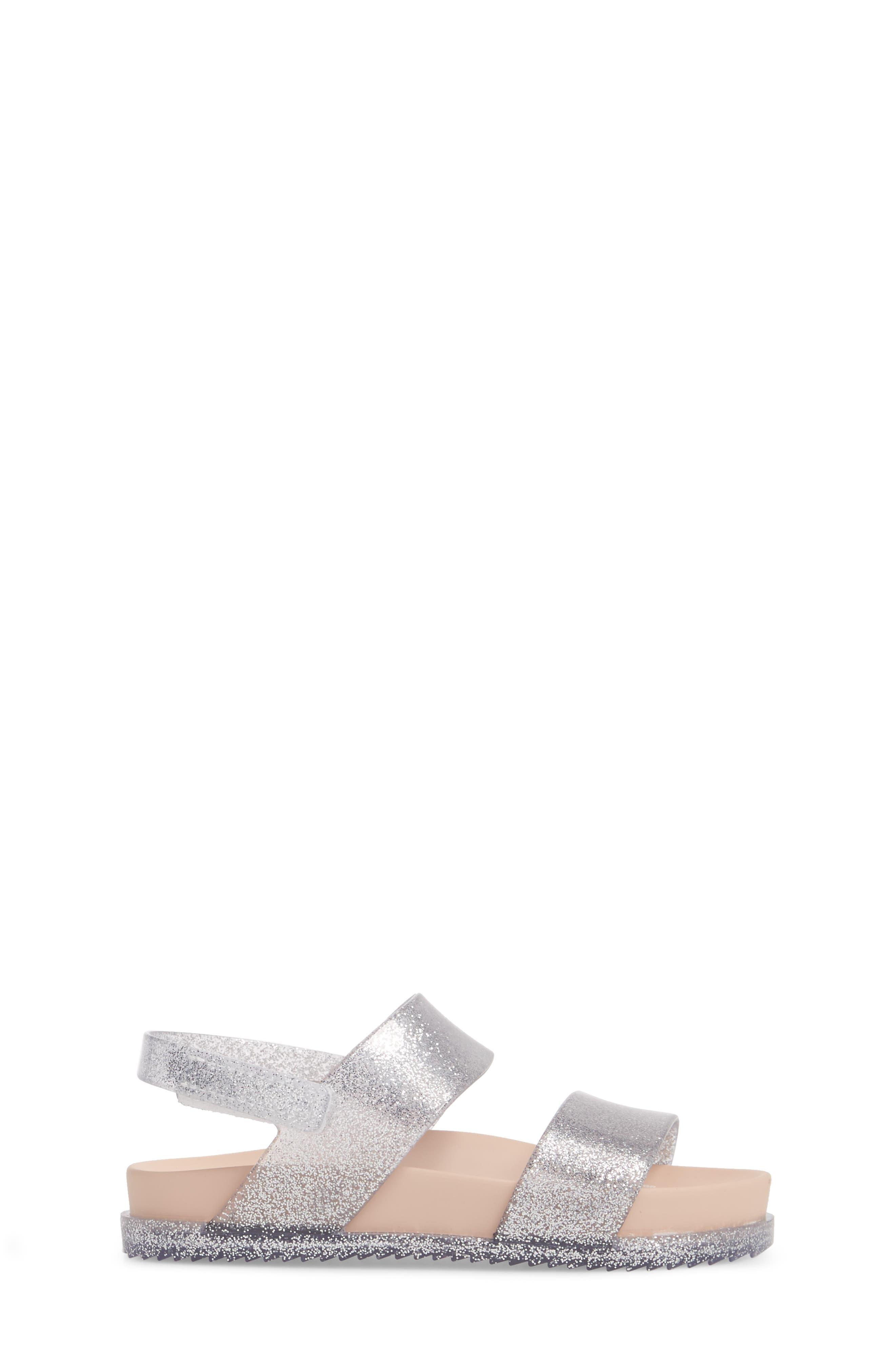 Glittery Cosmic Sandal,                             Alternate thumbnail 3, color,                             Pink Silver Sparkle