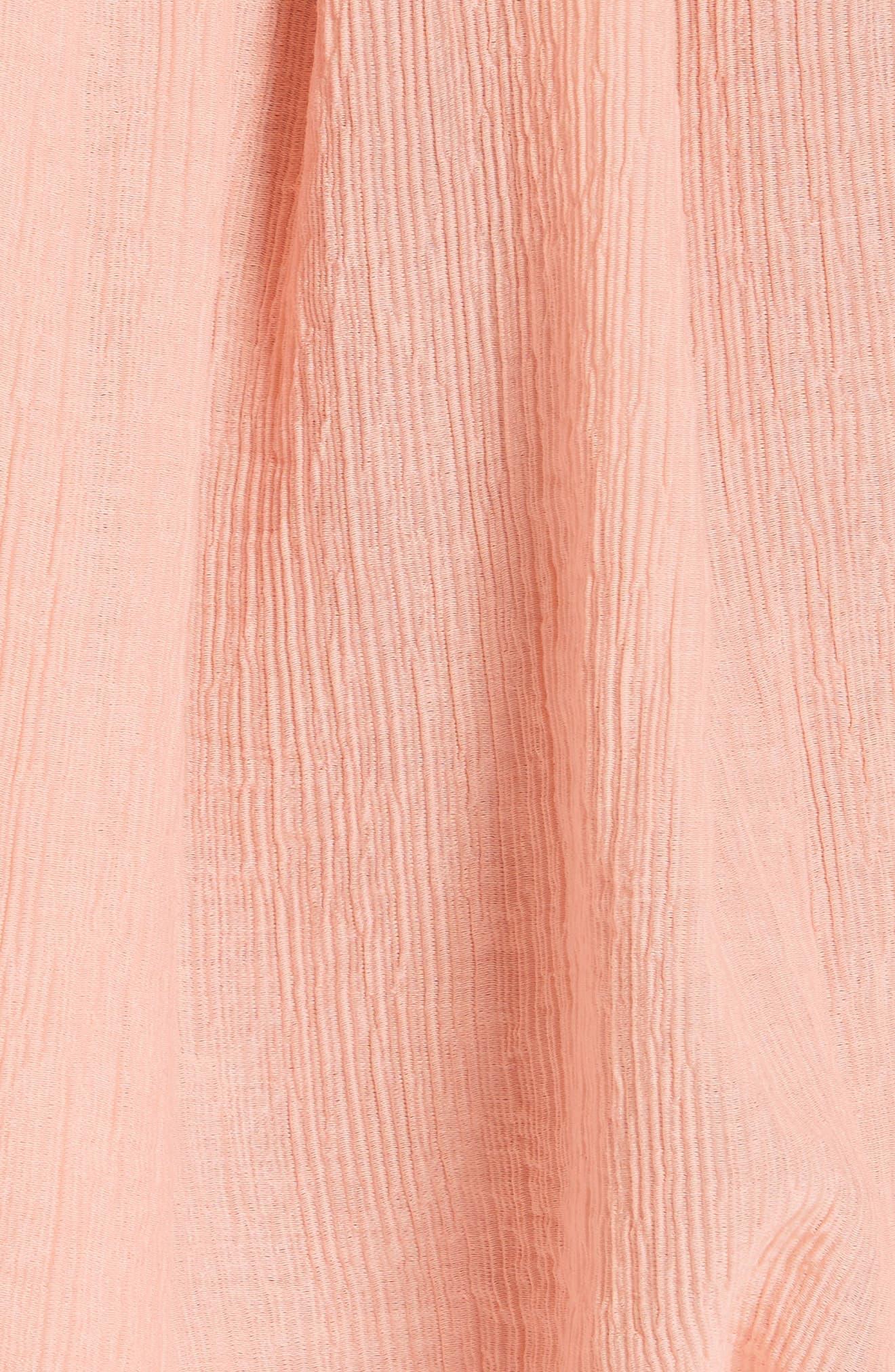 Elazara Ruched Sleeve Peasant Top,                             Alternate thumbnail 5, color,                             Summer Pink
