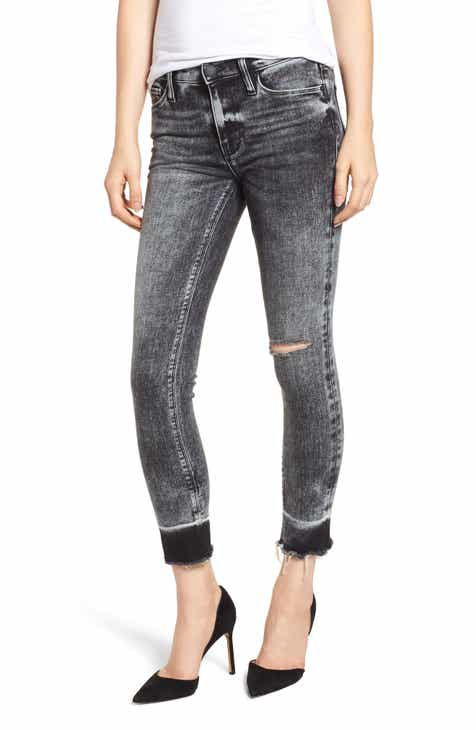 Hudson Jeans Nico Raw Hem Crop Super Skinny Jeans (Pepper) by HUDSON