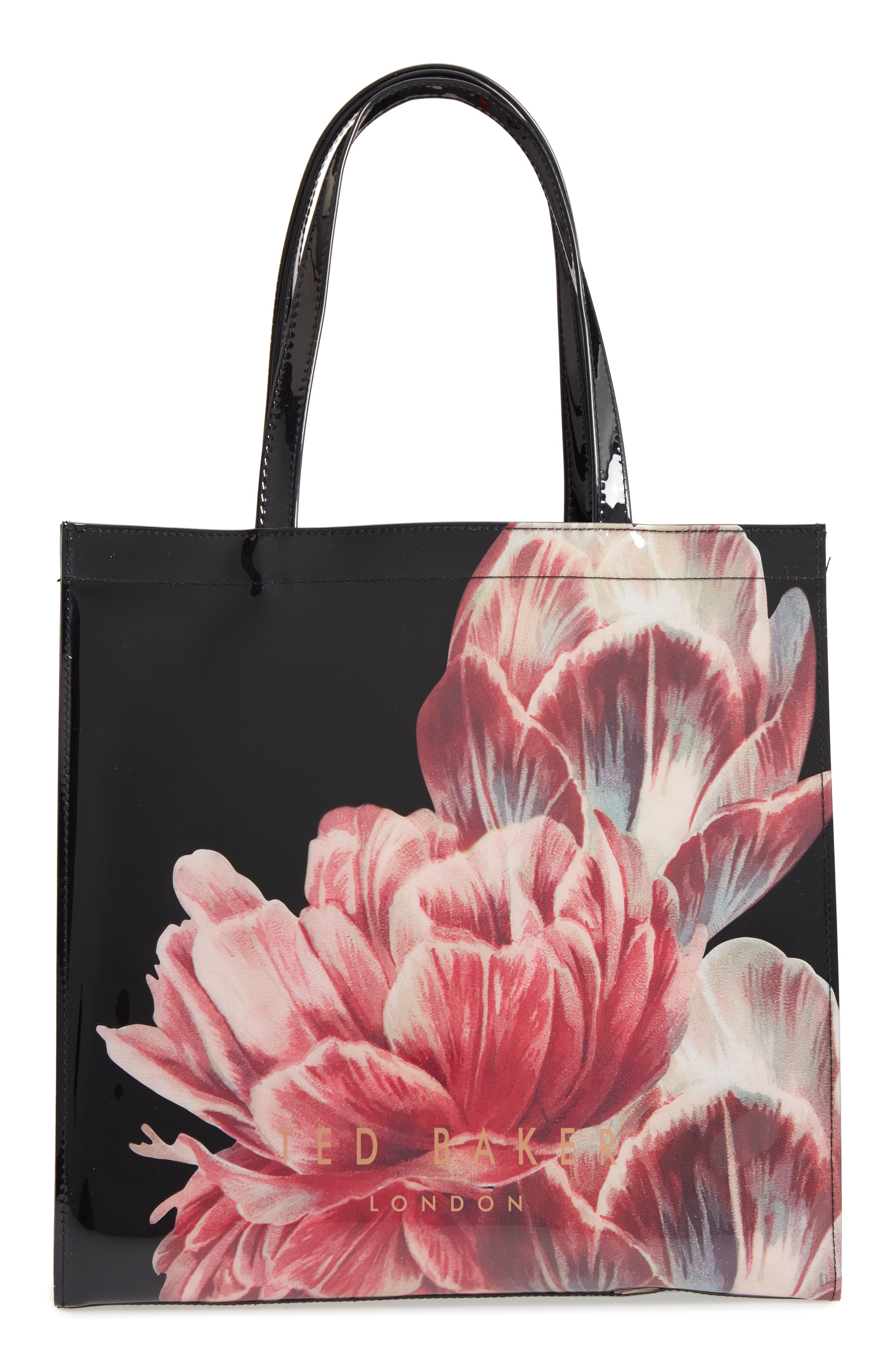 Tranquility Large Icon Tote,                         Main,                         color, Black