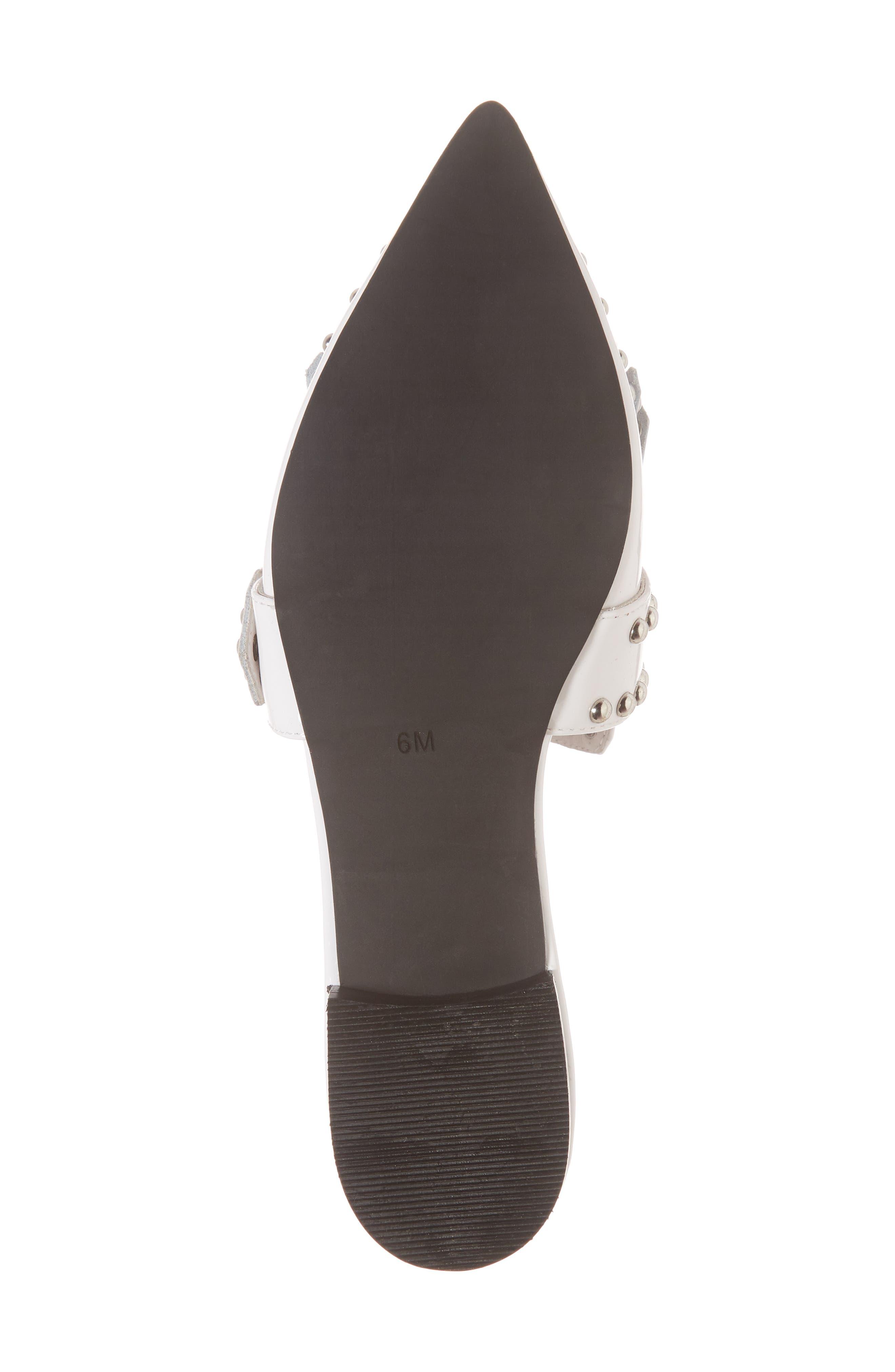 Daniel Studded Loafer Mule,                             Alternate thumbnail 6, color,                             White Patent