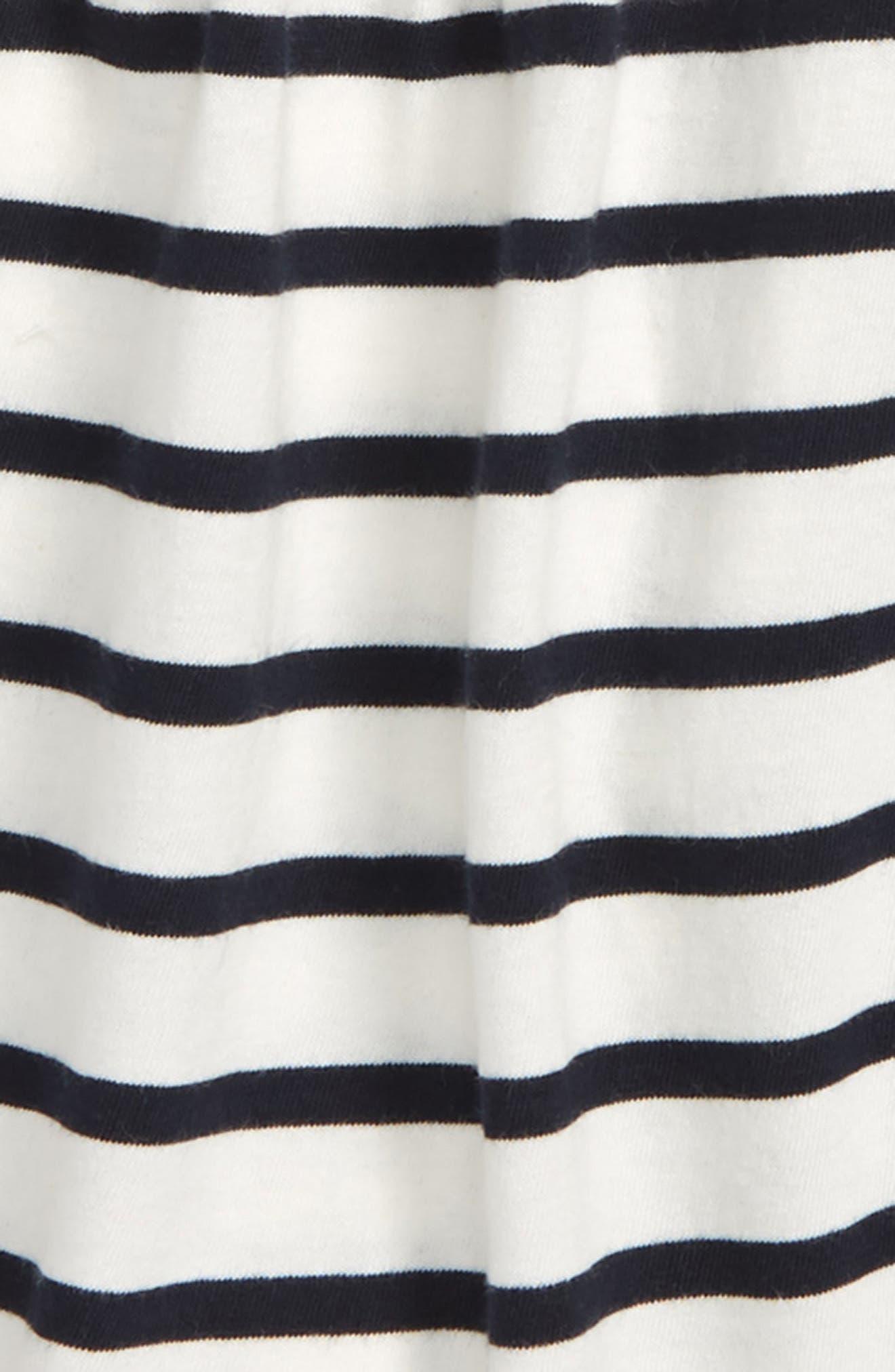 Stripe Bell Sleeve Tee,                             Alternate thumbnail 2, color,                             Ivory Navy