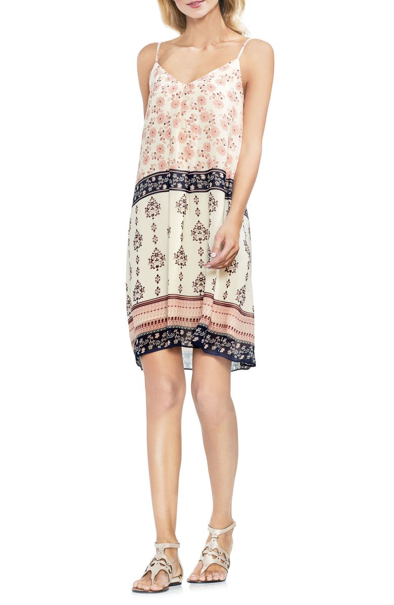 Tile Wildflower Inverted Pleat Slipdress