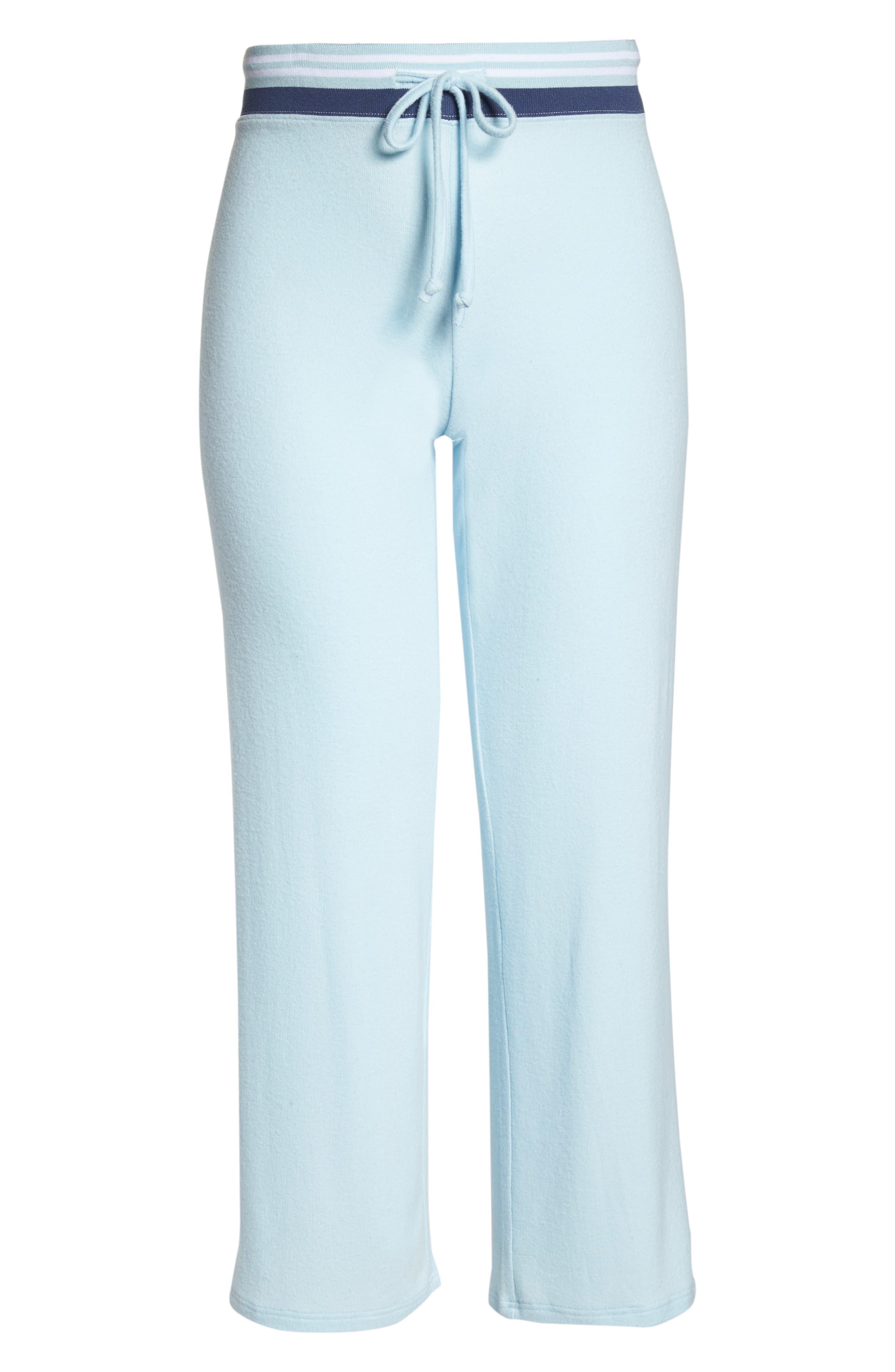 'Best Boyfriend' Brushed Hacci Lounge Pants,                             Alternate thumbnail 7, color,                             Blue Omphalodes