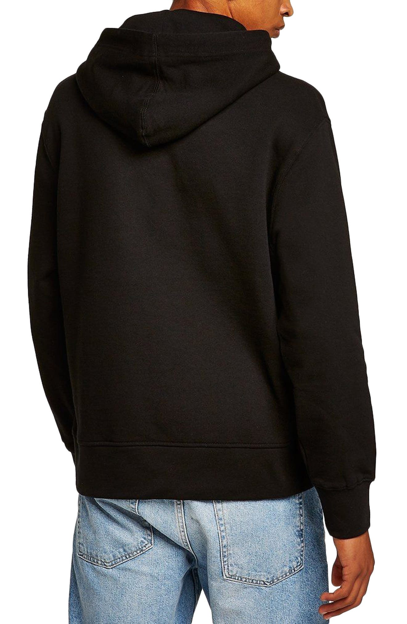 Classic Fit Tristan Easy Embroidered Hoodie,                             Alternate thumbnail 2, color,                             Black Multi