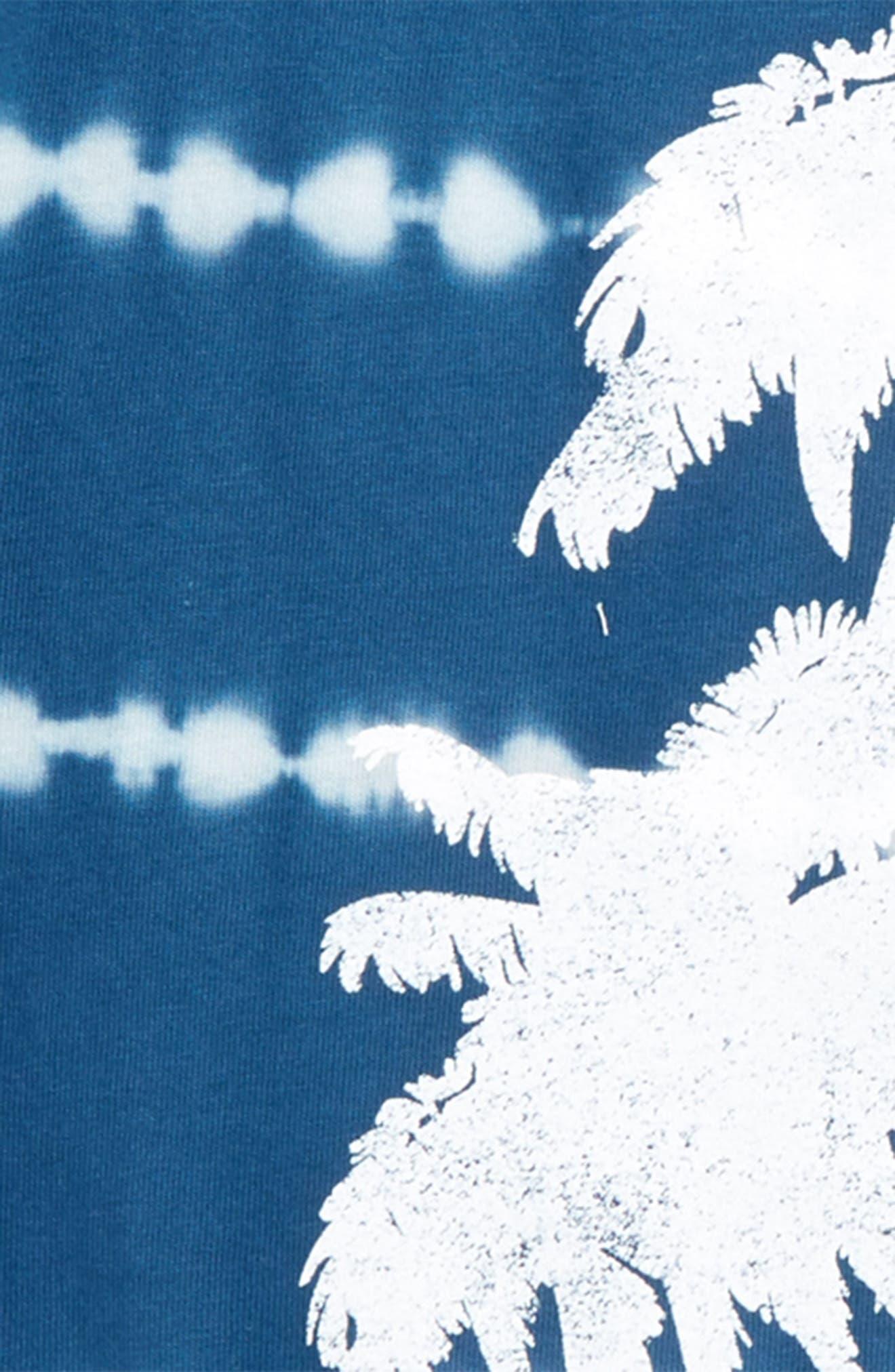 Palm Trees T-Shirt,                             Alternate thumbnail 2, color,                             Navy