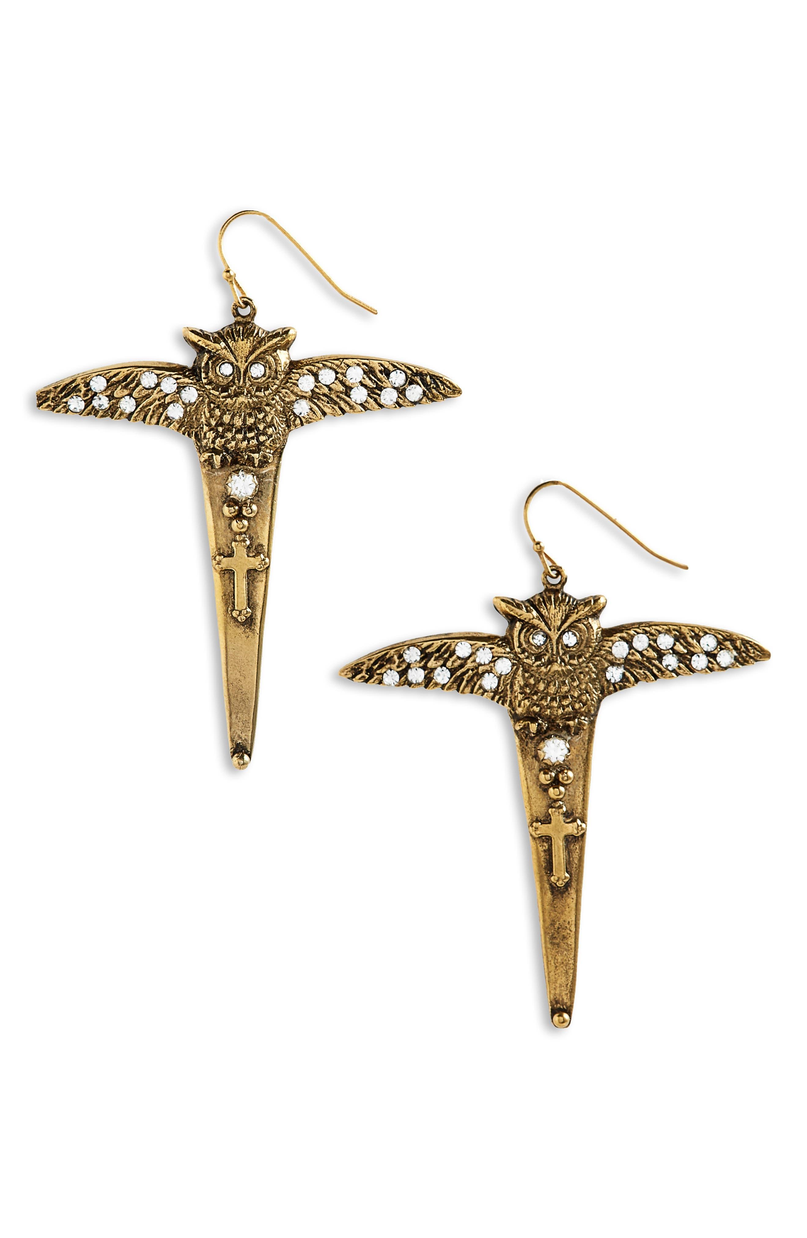 Mystic Amulet Earrings,                             Main thumbnail 1, color,                             Gold