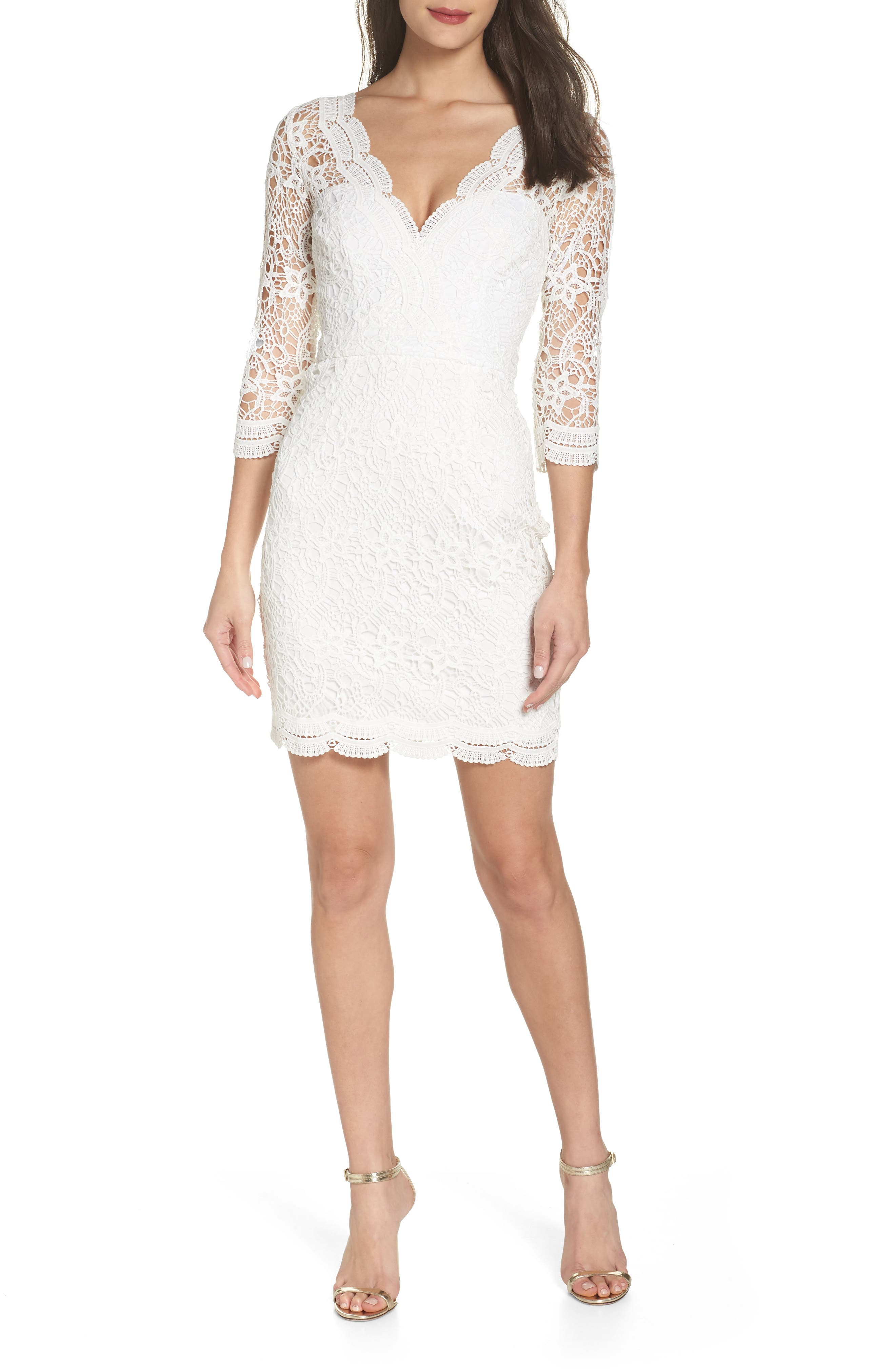 White Lace Dresses Fo Young