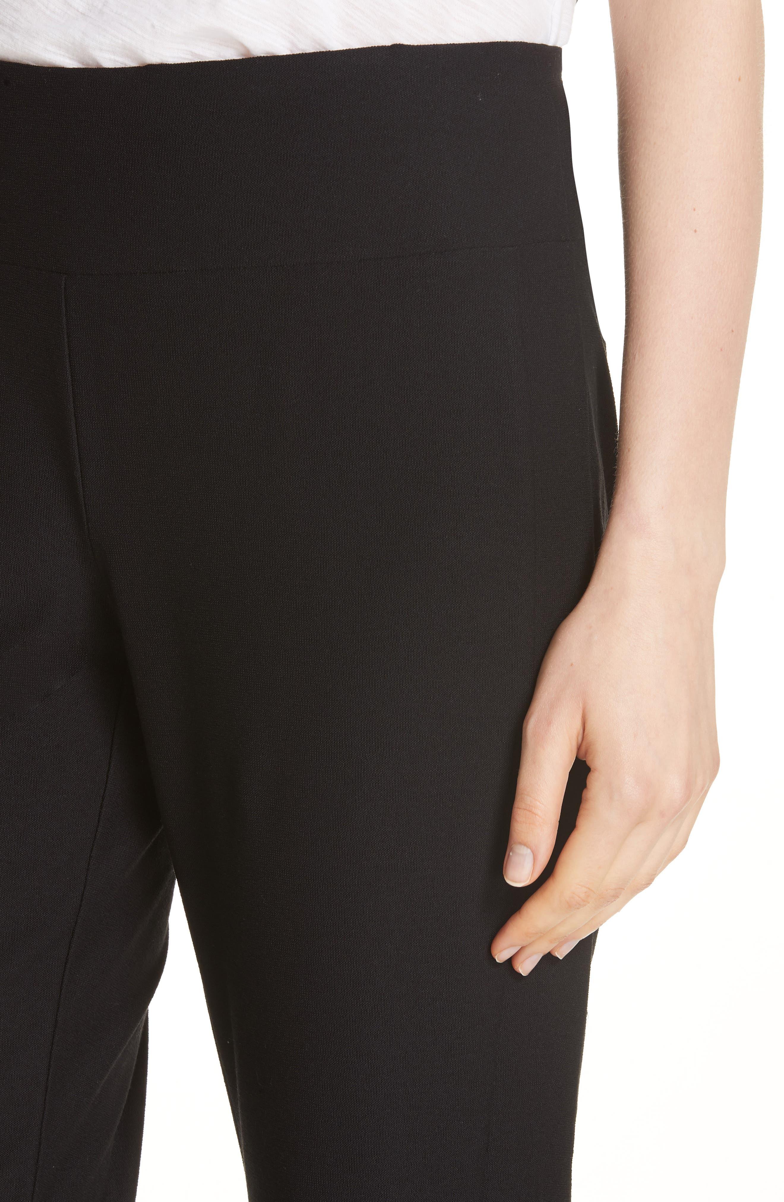 Slim Knit Pants,                             Alternate thumbnail 4, color,                             Black
