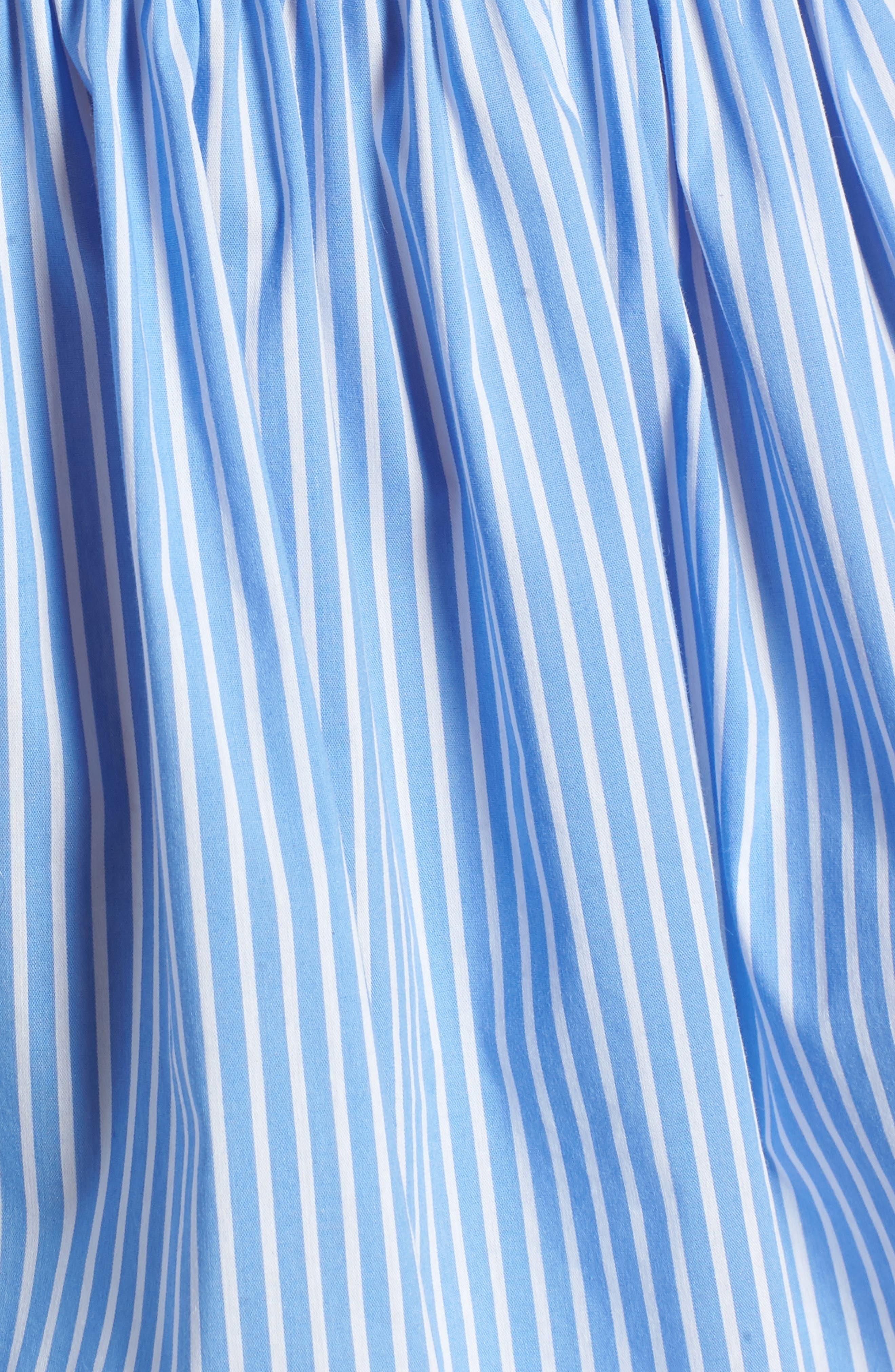 Mix Stripe Peplum Top,                             Alternate thumbnail 6, color,                             Blue White Combo