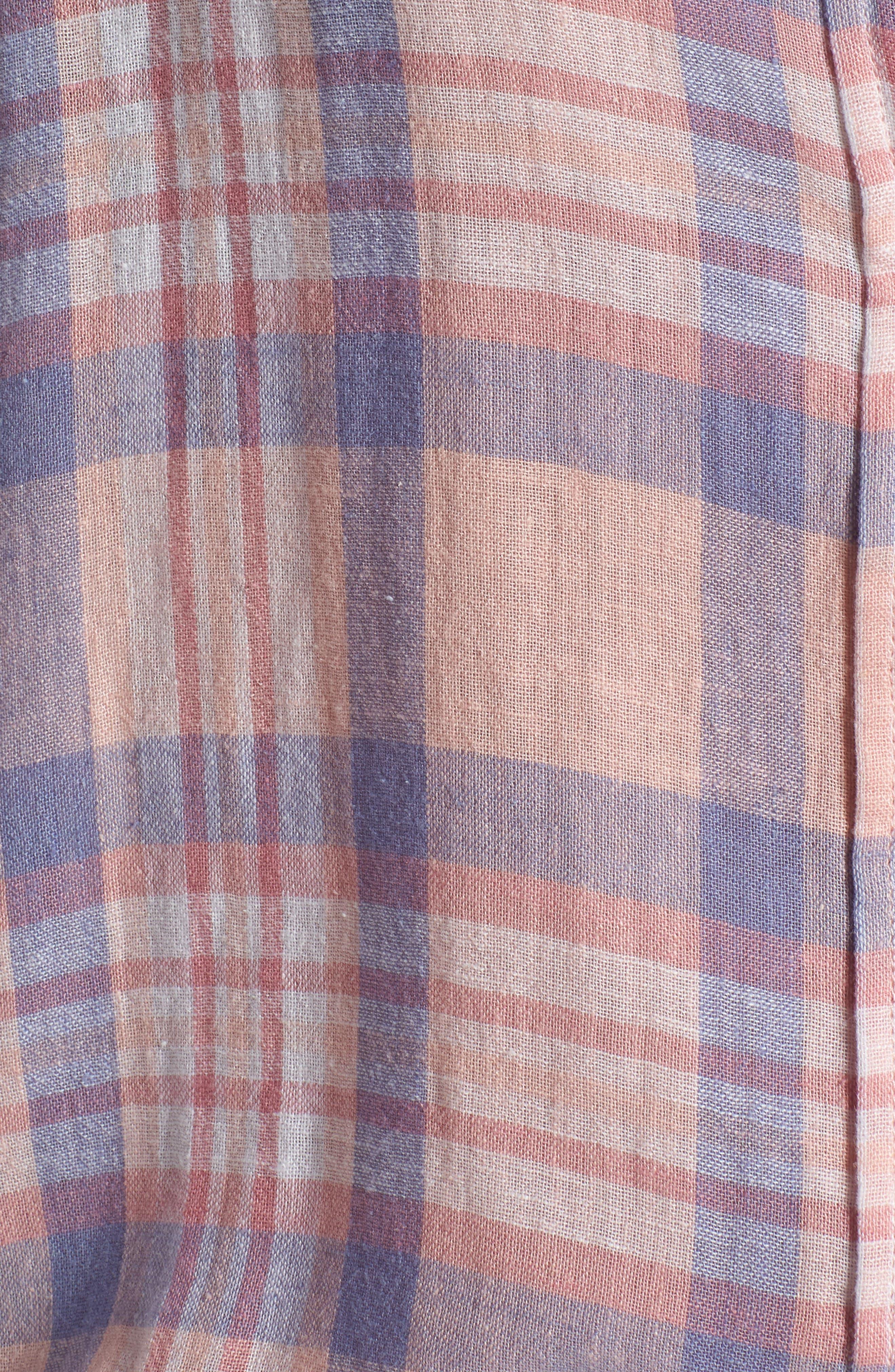 Charli Shirt,                             Alternate thumbnail 3, color,                             Peach Blush Blue