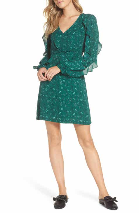0f78516bf8 Forest Lily Floral Ruffle Sleeve Dress