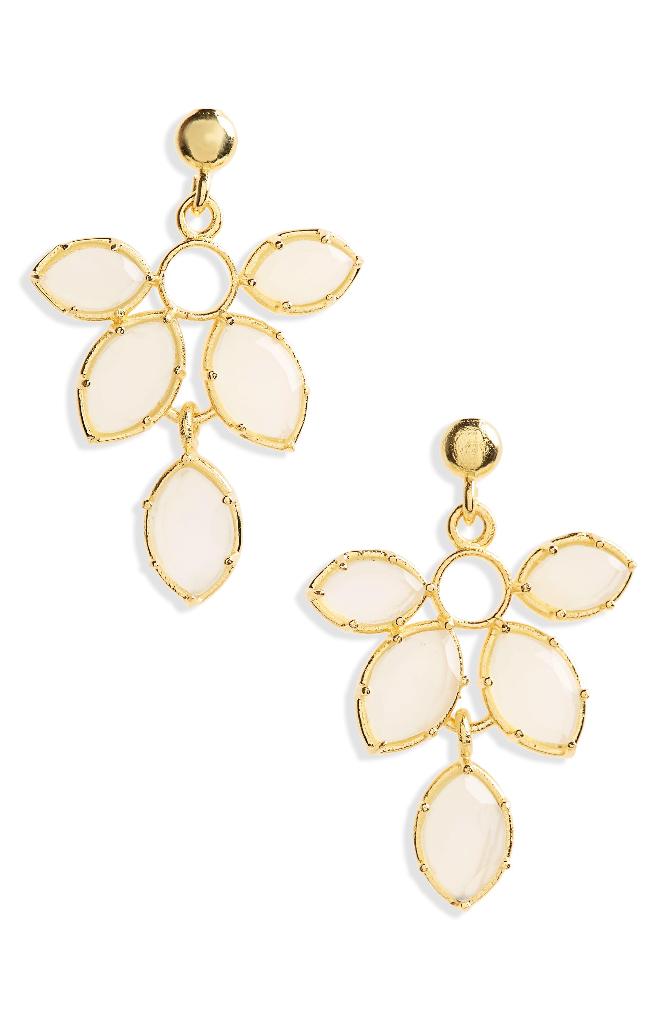 Snapdragon Earrings,                             Main thumbnail 1, color,                             Opalite