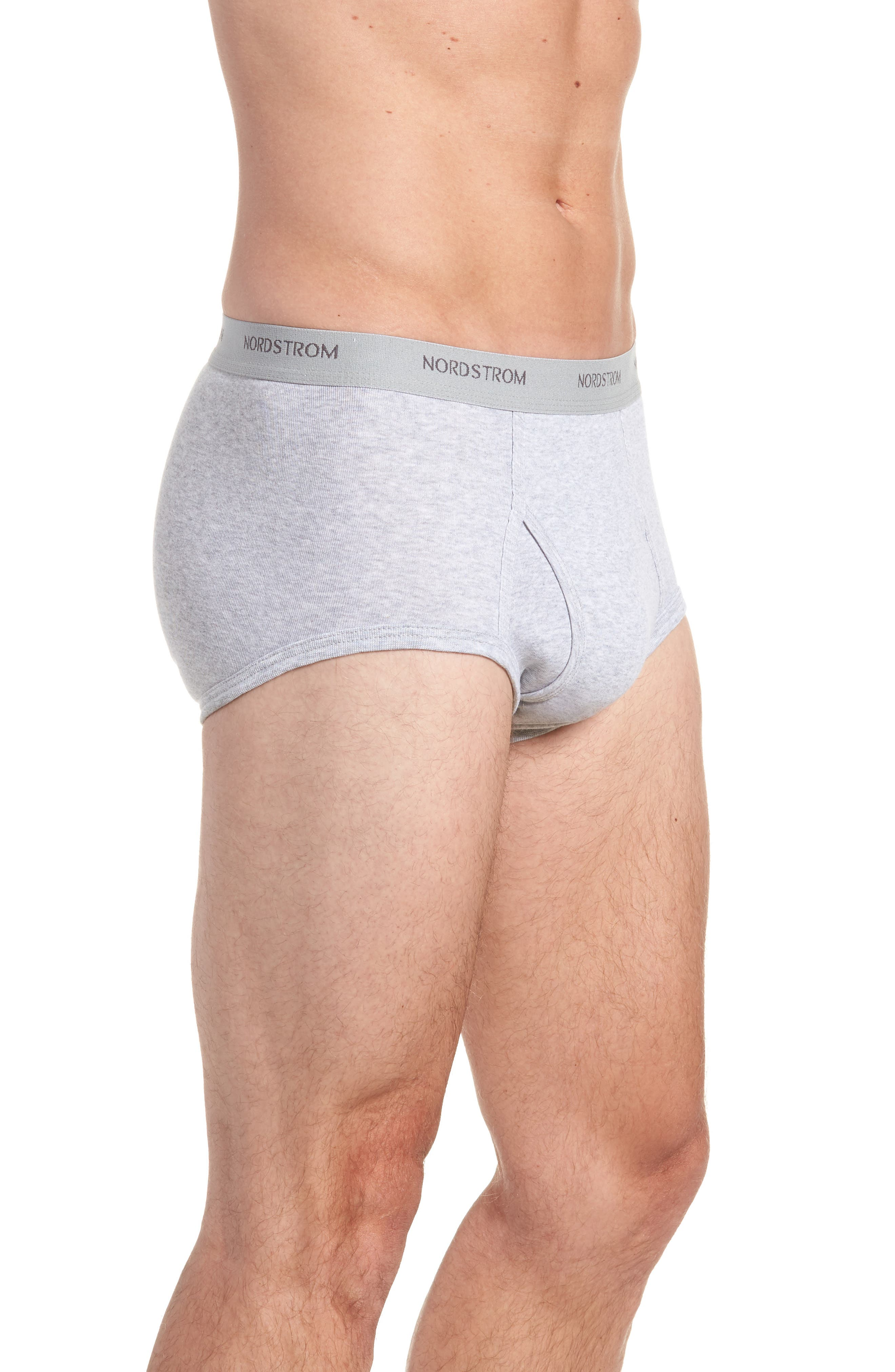 4-Pack Supima<sup>®</sup> Cotton Briefs,                             Alternate thumbnail 8, color,                             Black/ Navy/ Grey