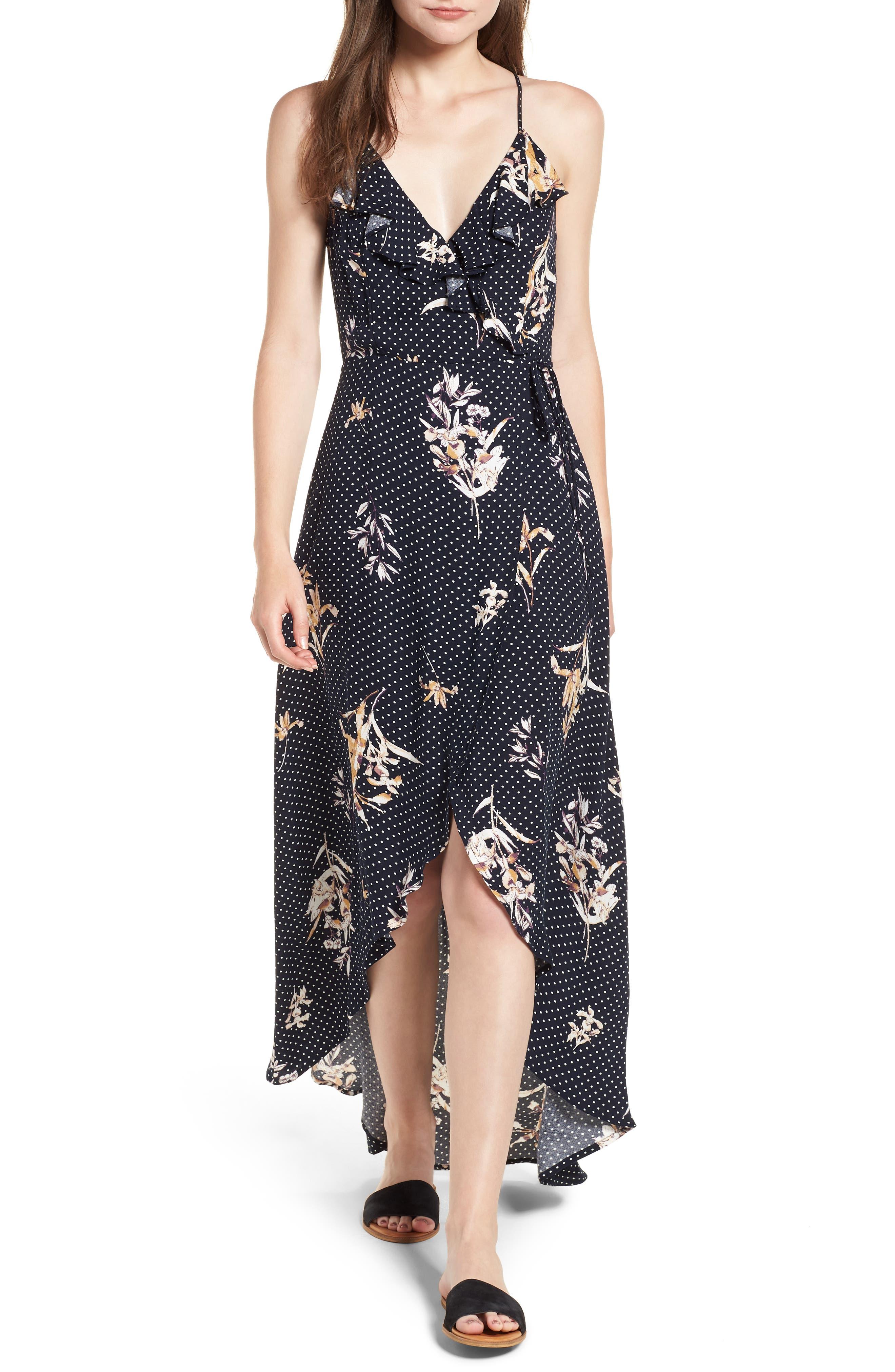 CATALINA MAXI WRAP DRESS