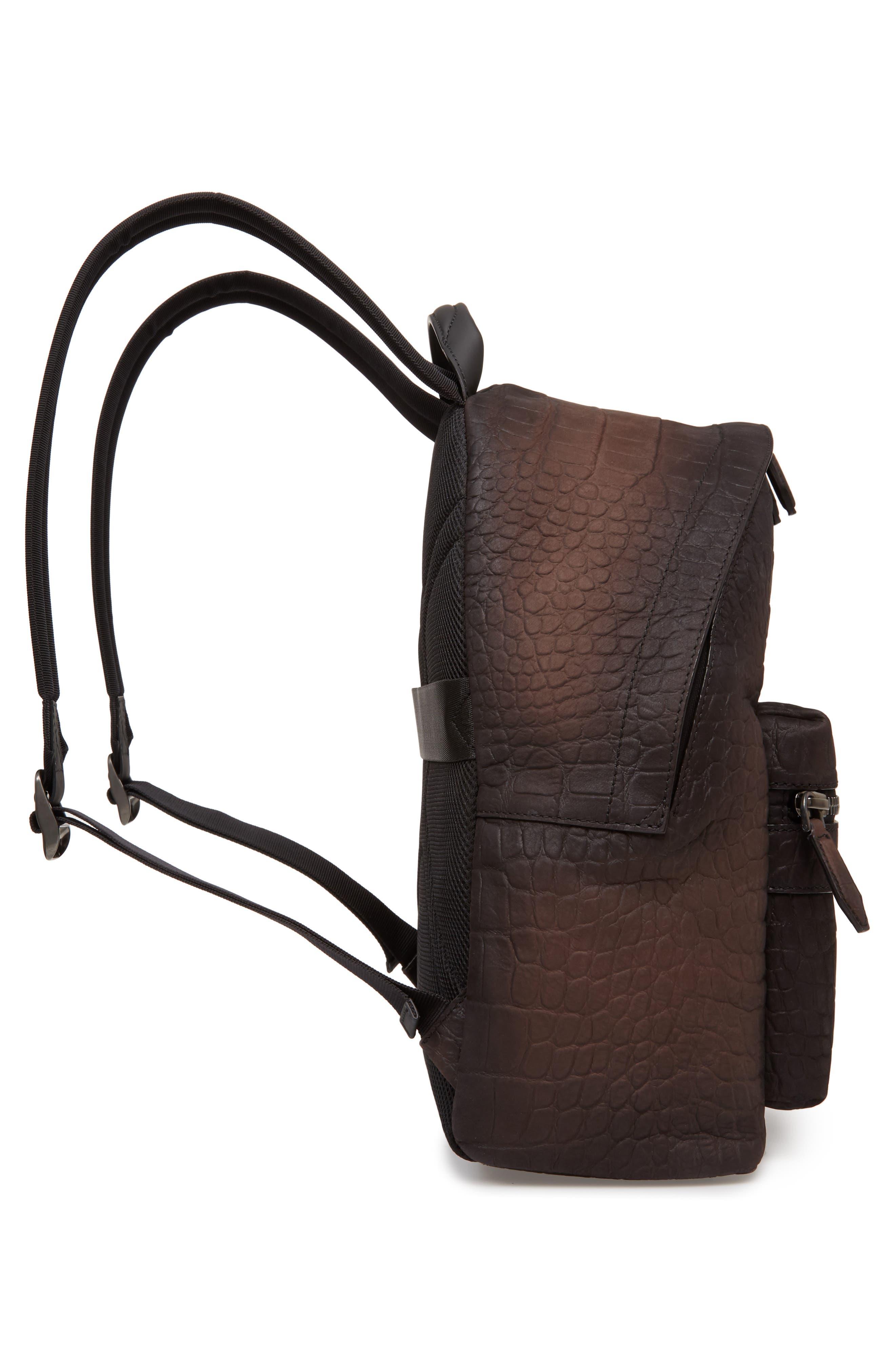 Firenze Leather Backpack,                             Alternate thumbnail 5, color,                             Moro