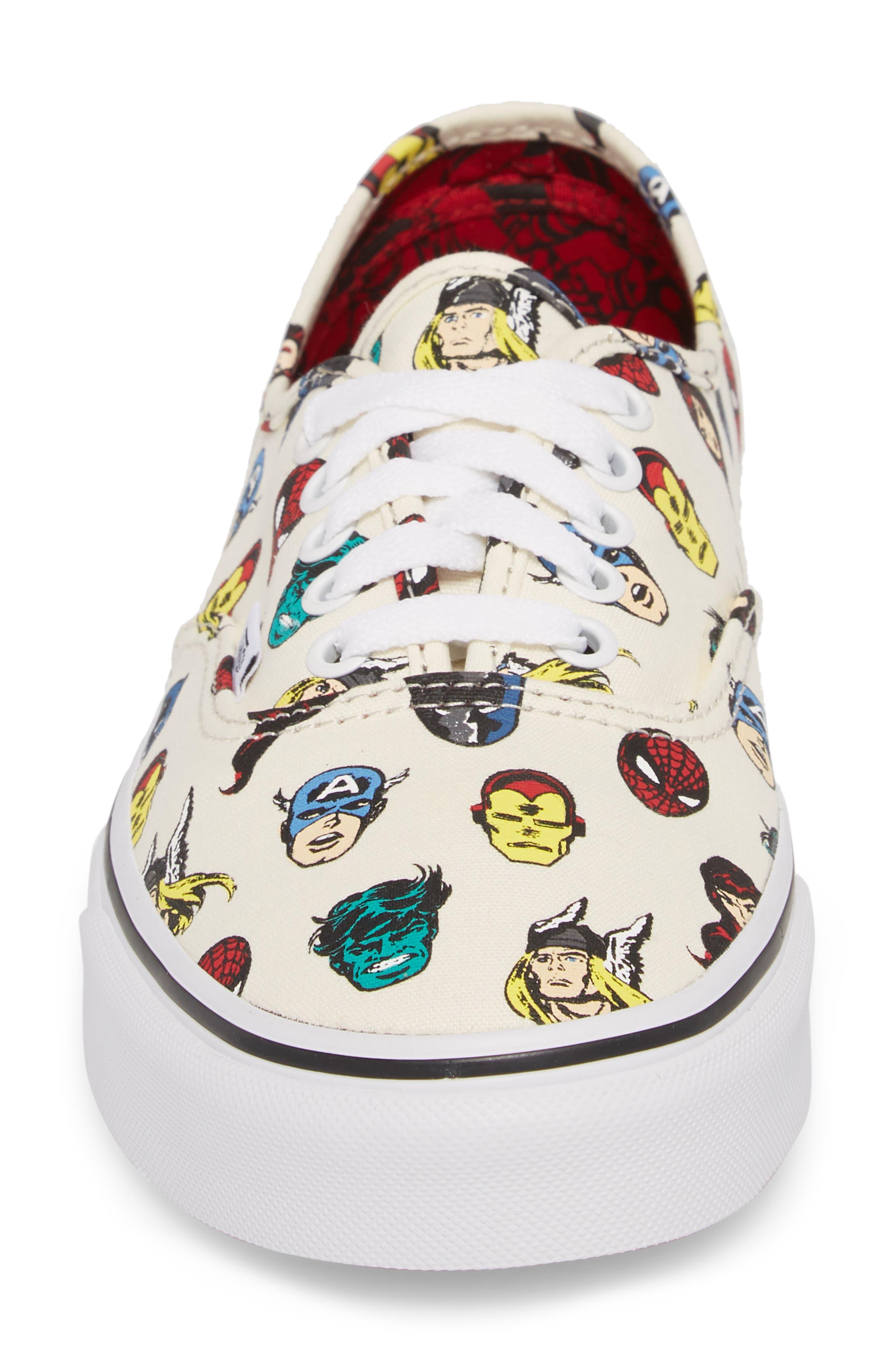 x Marvel<sup>®</sup> UA Authentic Sneaker,                             Alternate thumbnail 4, color,                             Avengers Blue