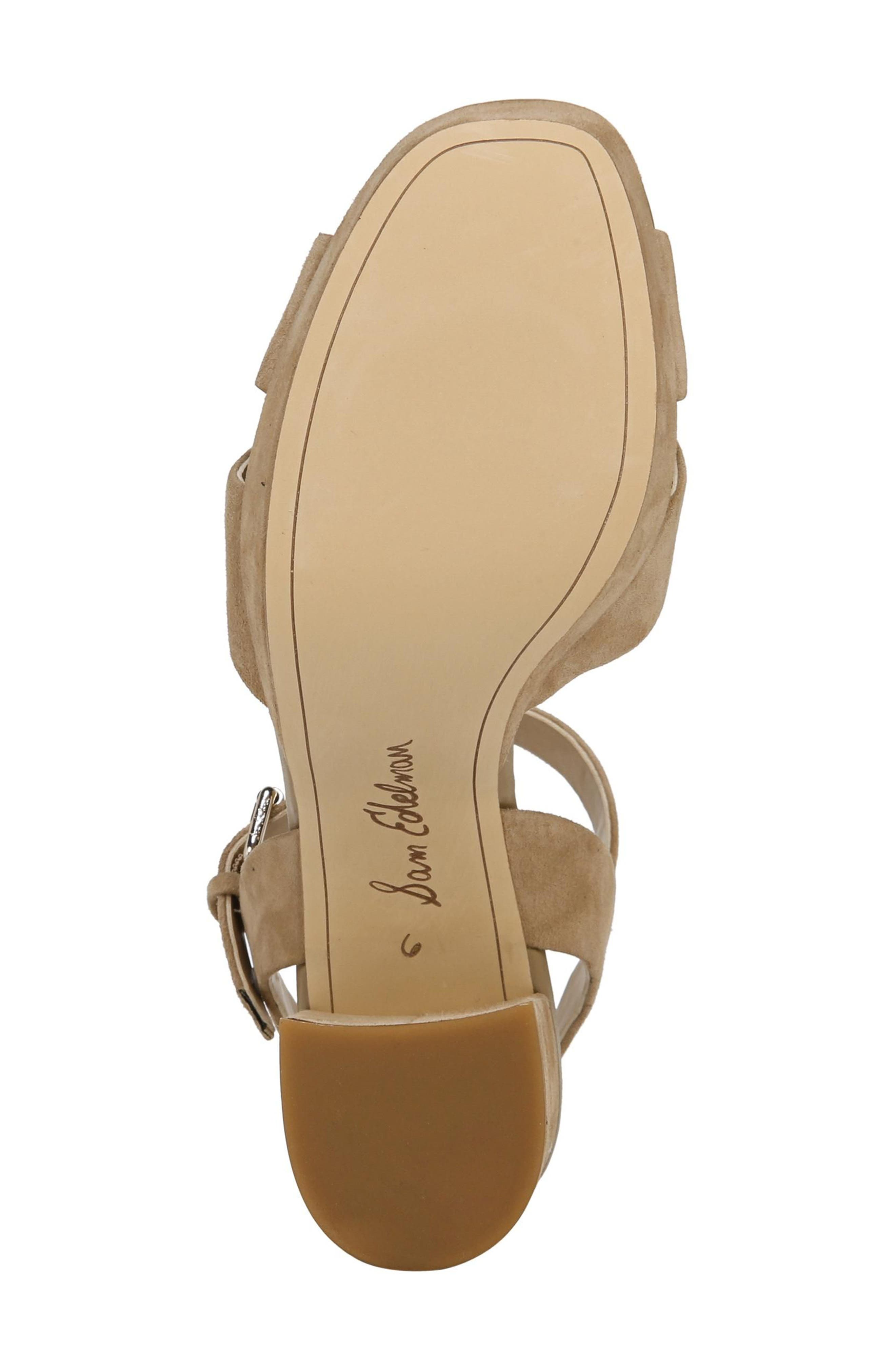 Jolene Platform Sandal,                             Alternate thumbnail 6, color,                             Oatmeal Leather
