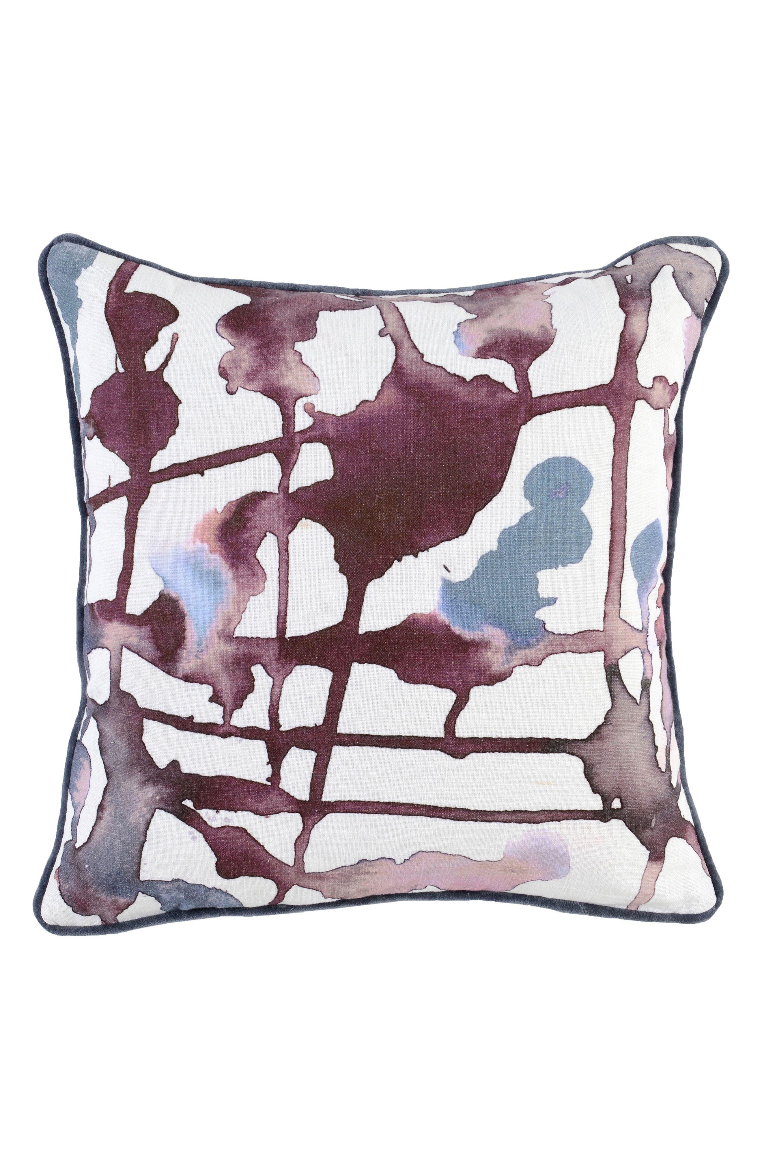 Lillian Accent Pillow,                             Main thumbnail 1, color,                             Wine/ Gray