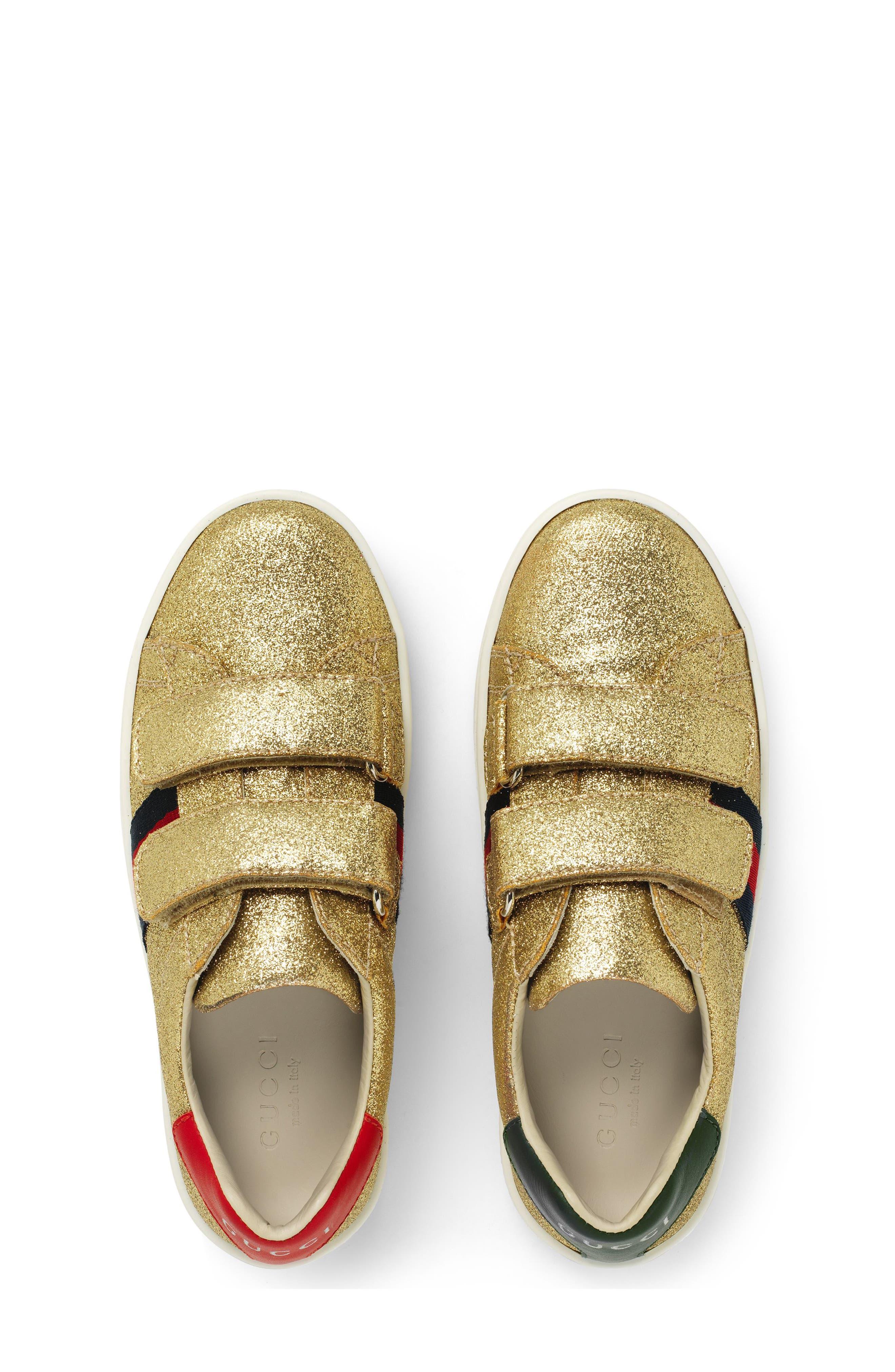 New Ace Sneaker,                             Alternate thumbnail 4, color,                             Metallic Gold