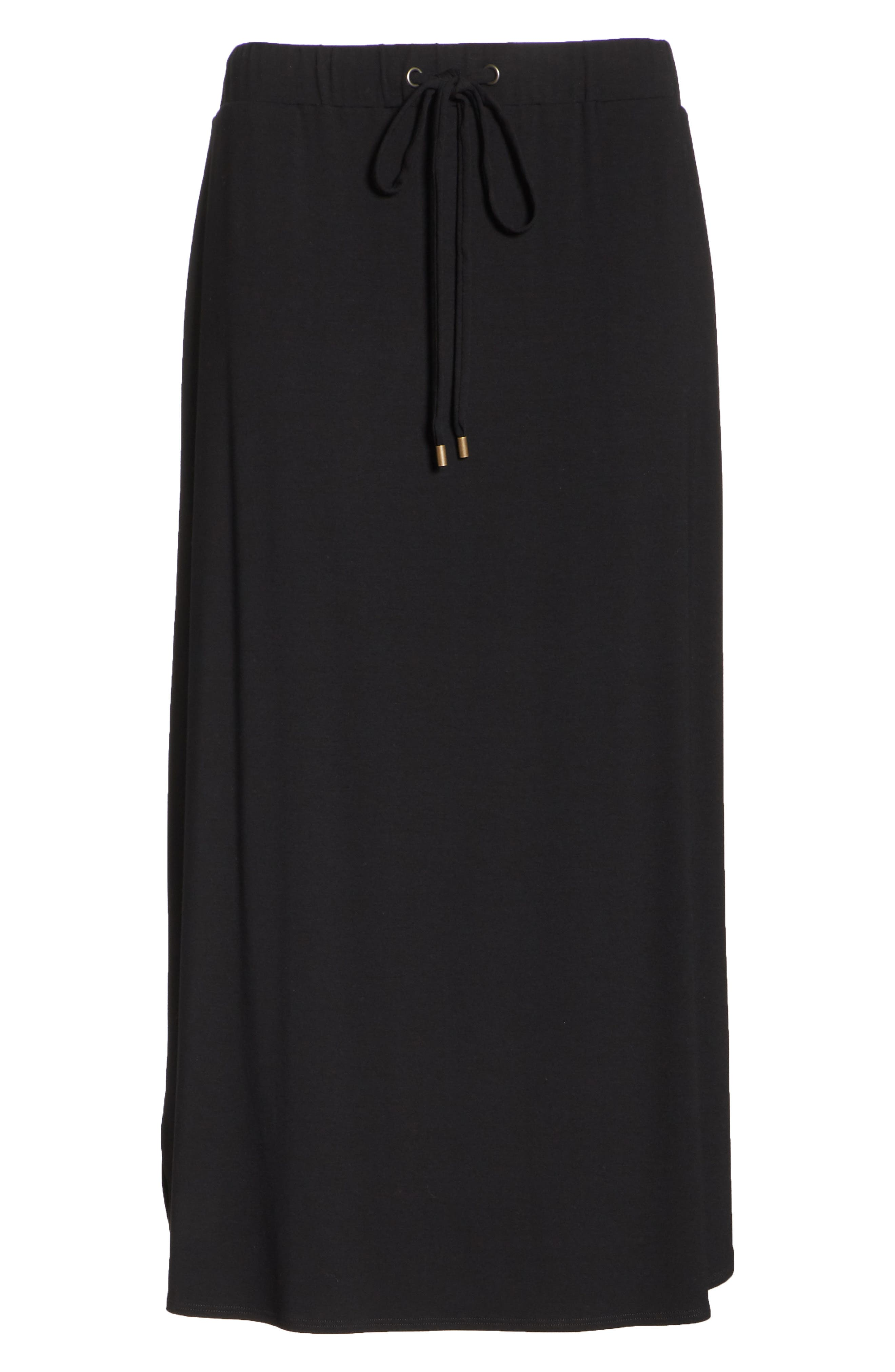 Drawstring Skirt,                             Alternate thumbnail 7, color,                             Black