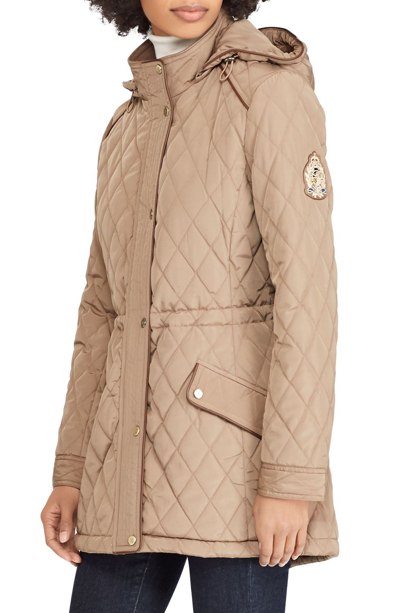 Lauren Ralph Lauren Quilted Coat (Regular \u0026 Petite)