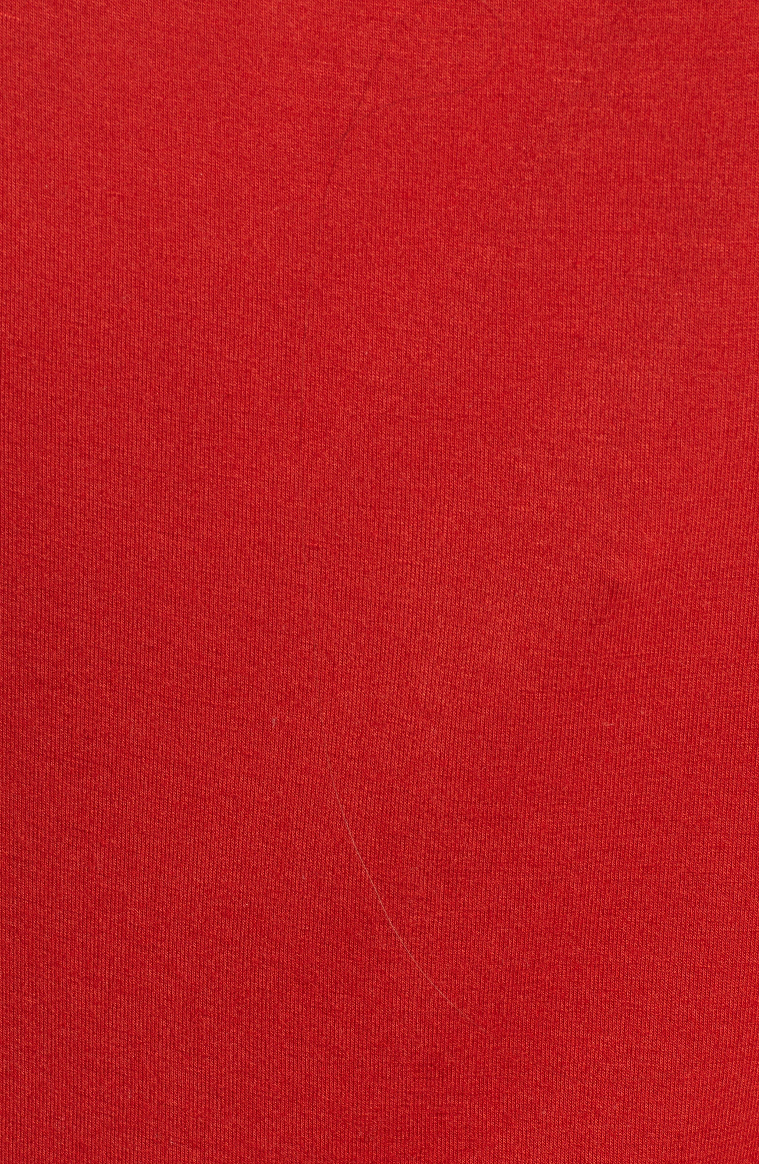 Cinch Front Tee,                             Alternate thumbnail 4, color,                             Red