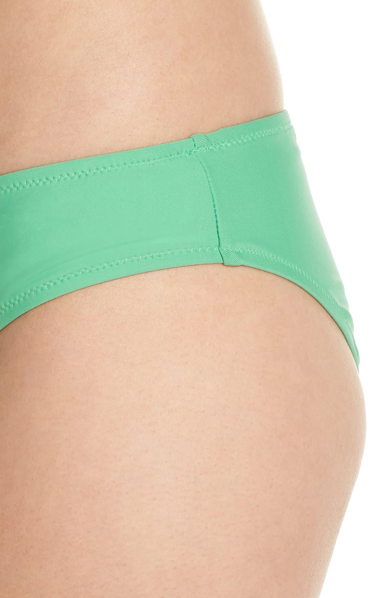 J.Crew Hipster Bikini Bottoms,                             Alternate thumbnail 4, color,                             Bright Spearmint