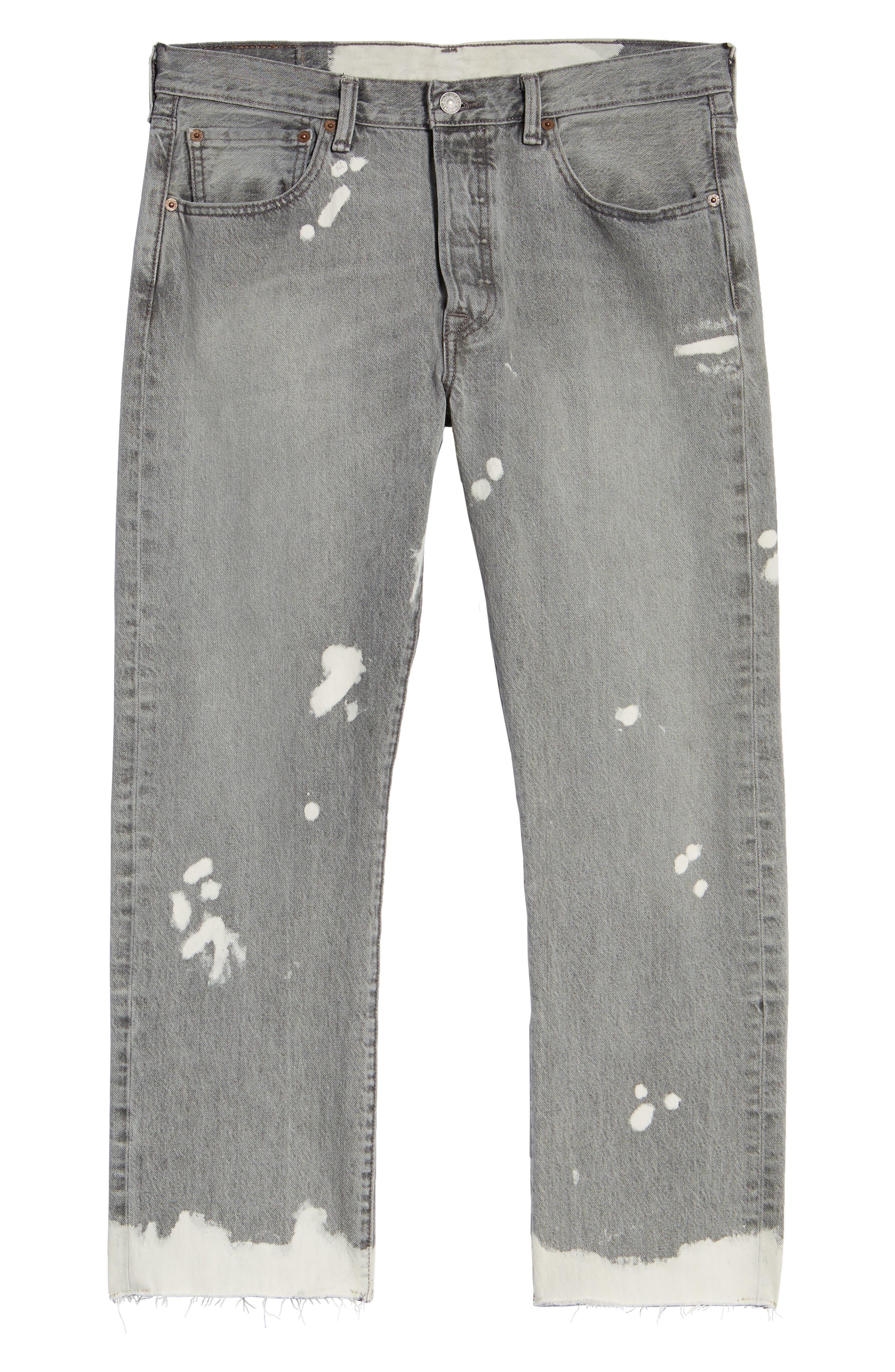 501<sup>™</sup> Straight Leg Jeans,                             Alternate thumbnail 6, color,                             Harris