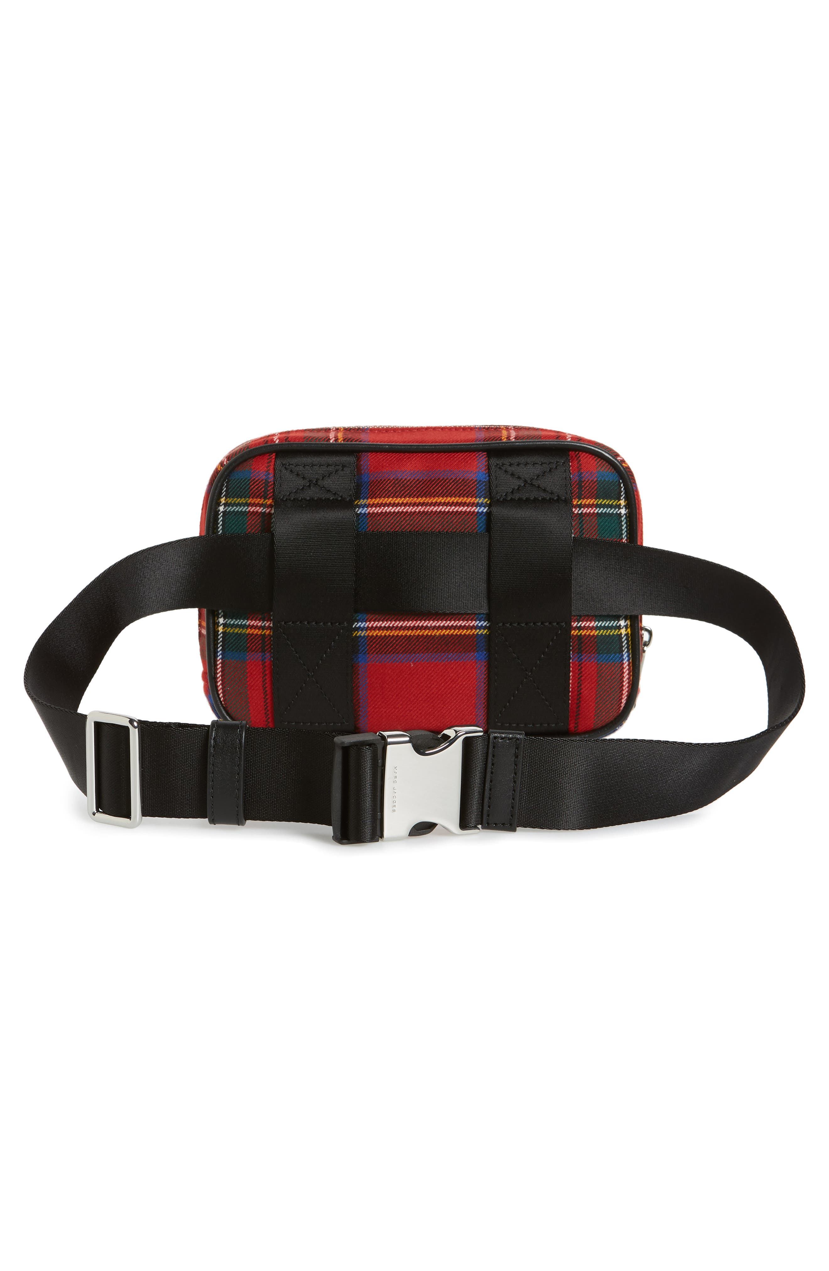 Sport Plaid Belt Bag,                             Alternate thumbnail 3, color,                             Red Multi