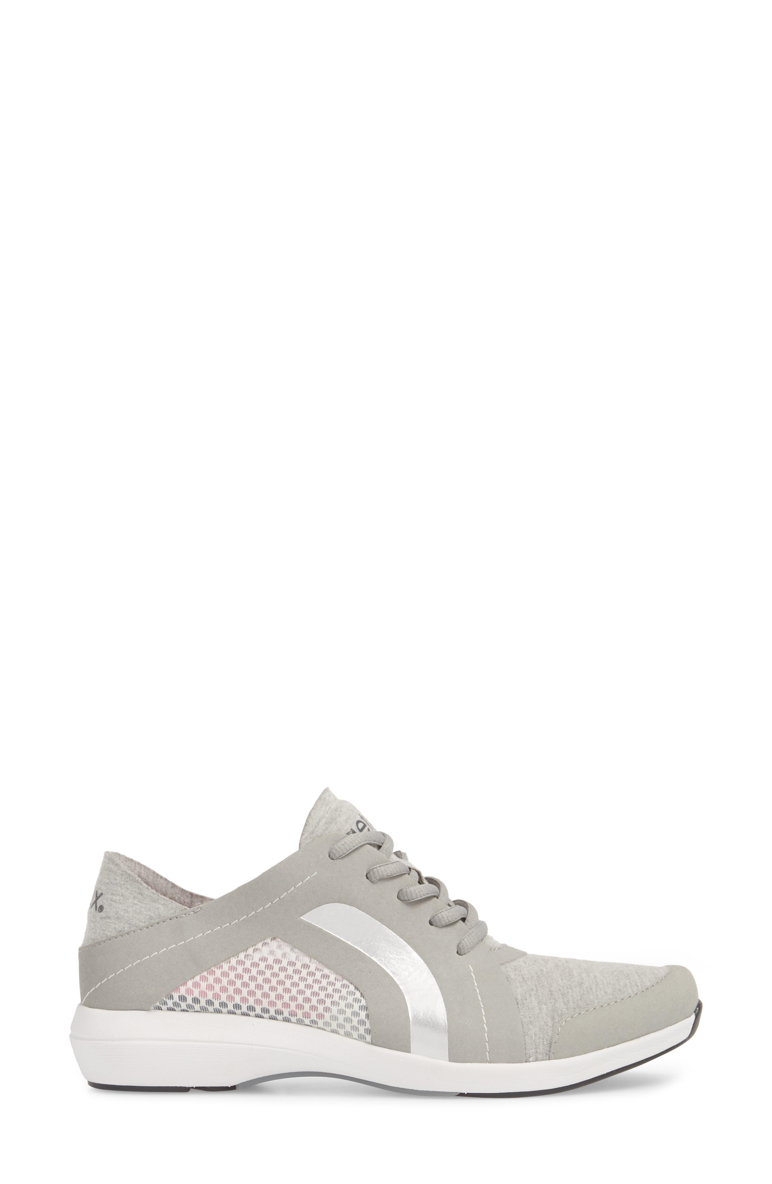 Sloane Sneaker,                             Alternate thumbnail 3, color,                             Grey Fabric