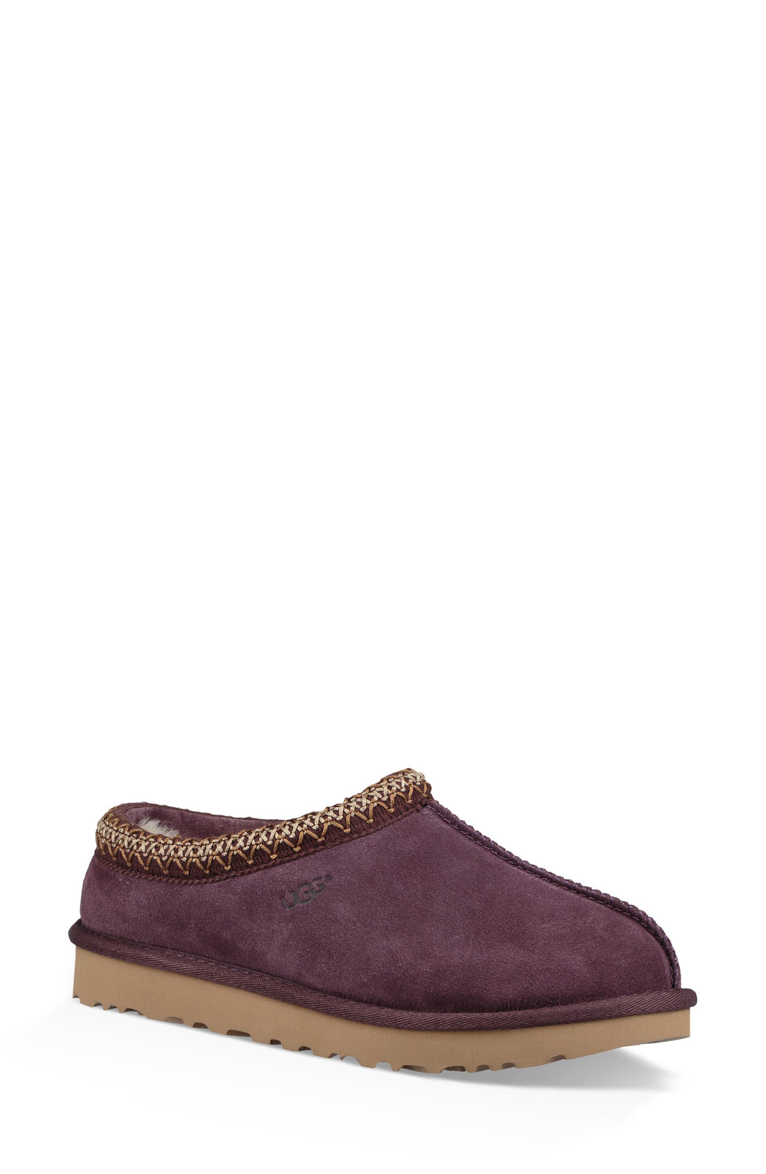 'Tasman' Slipper,                             Main thumbnail 1, color,                             Port Leather